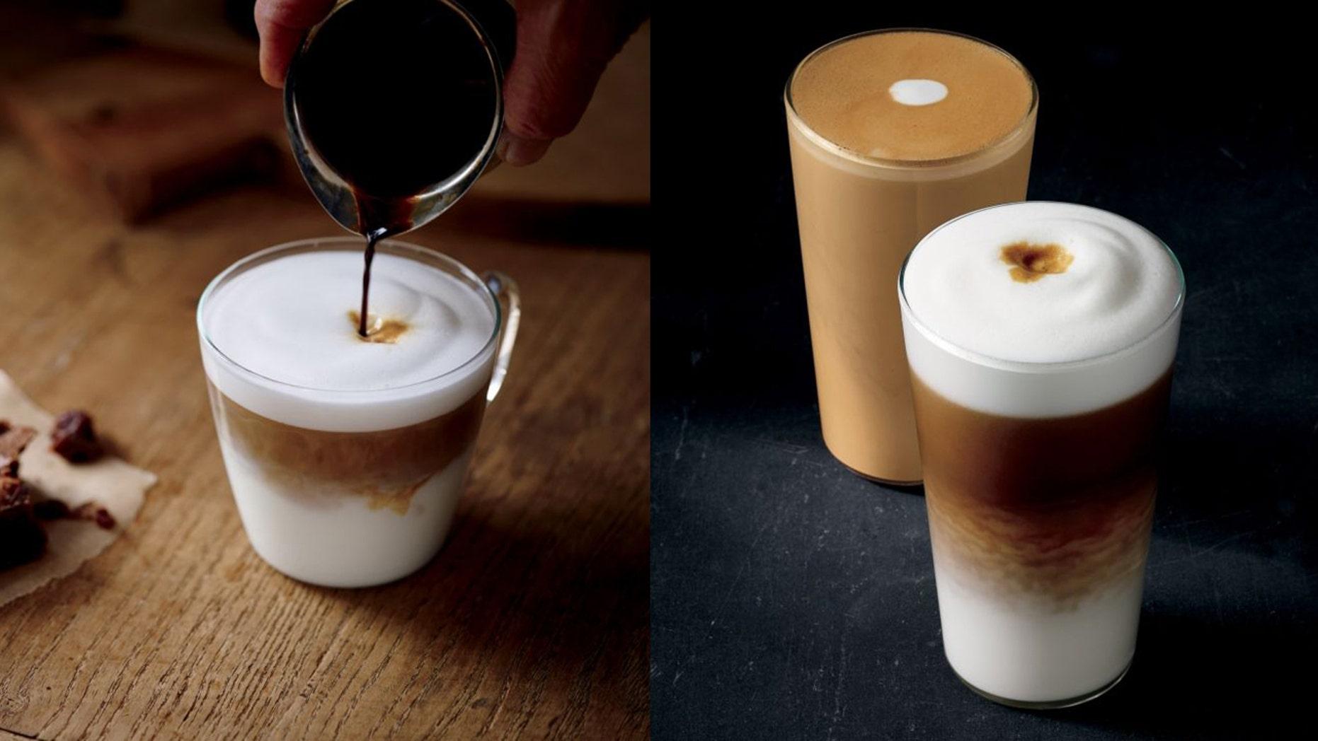 The latte macchiato is Starbucks' latest core beverage.