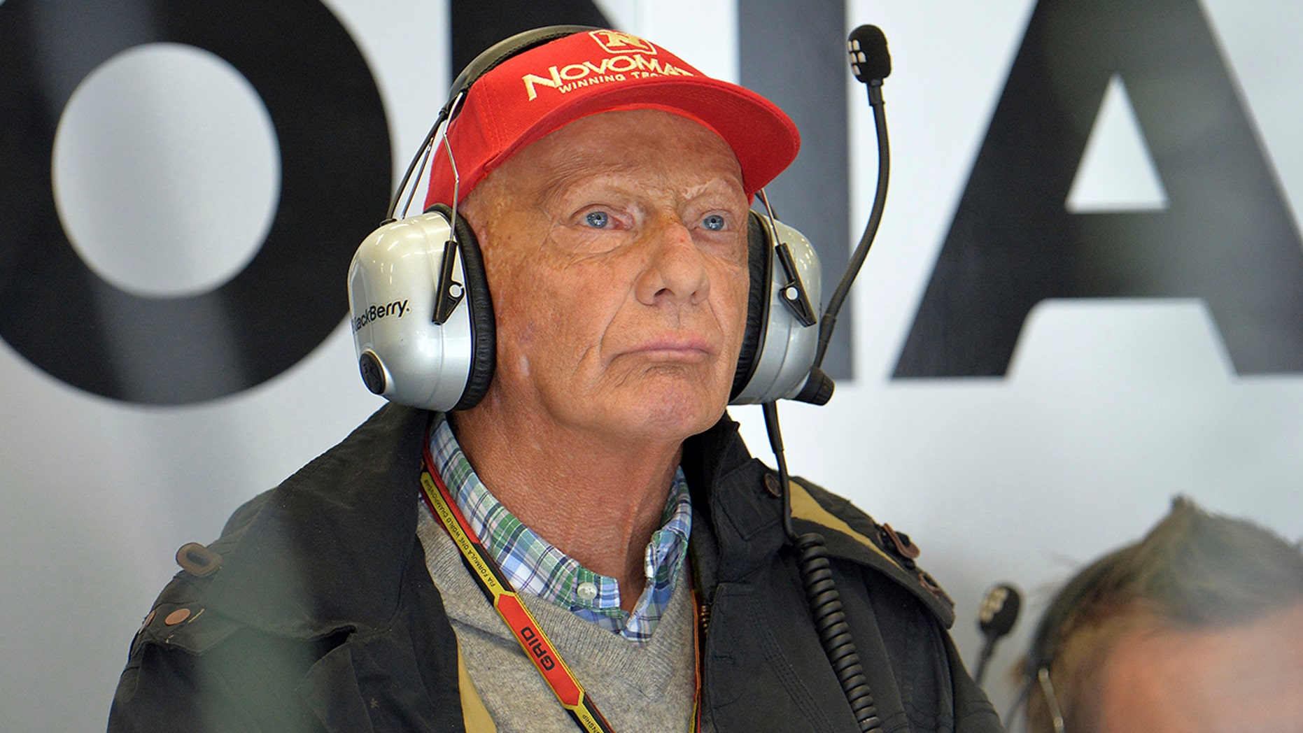 """FILE - In this Friday, June 20, 2014 photo former three-time F1 World champion Niki Lauda from Austria attends the second training session at the race track in Spielberg, Austria. Three-time Formula One world champion Niki Lauda has undergone a lung transplant. The Vienna General Hospital says the operation was performed Thursday because of a """"serious lung illness."""" It didn't give more specific details in a brief statement and said the 69-year-old Austrian's family would make no public comment (AP Photo/Kerstin Joensson, file)"""