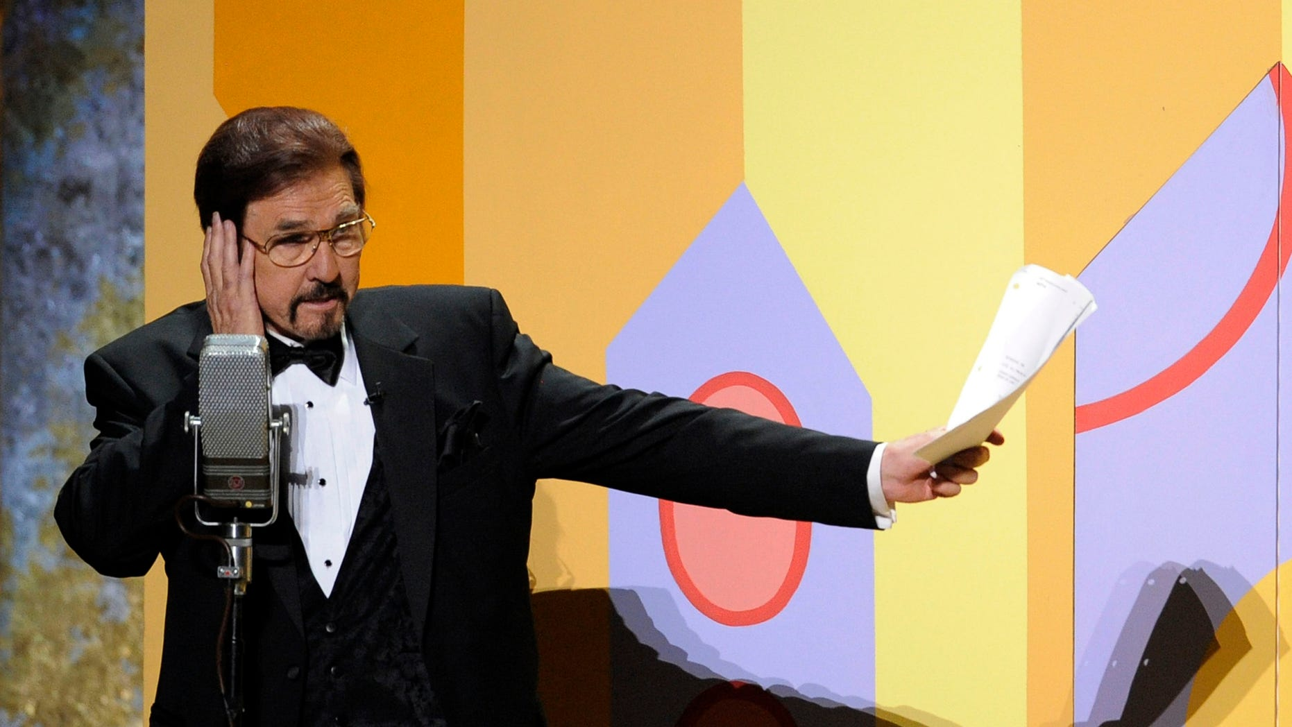 Sept. 21, 2008. Gary Owens performs in a skit at the 60th Primetime Emmy Awards in Los Angeles.