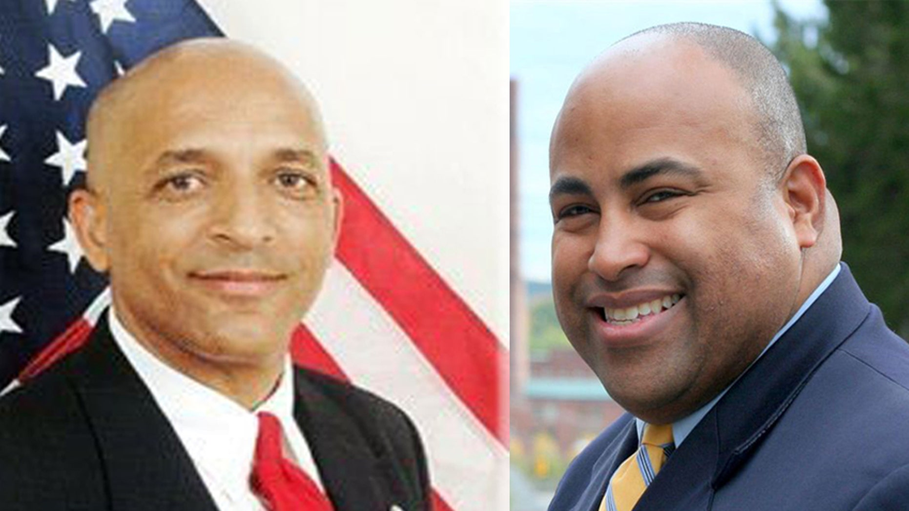 Daniel Rivera (right) a Gulf War veteran and president of the Lawrence City Council, is running against Mayor William Lantigua.