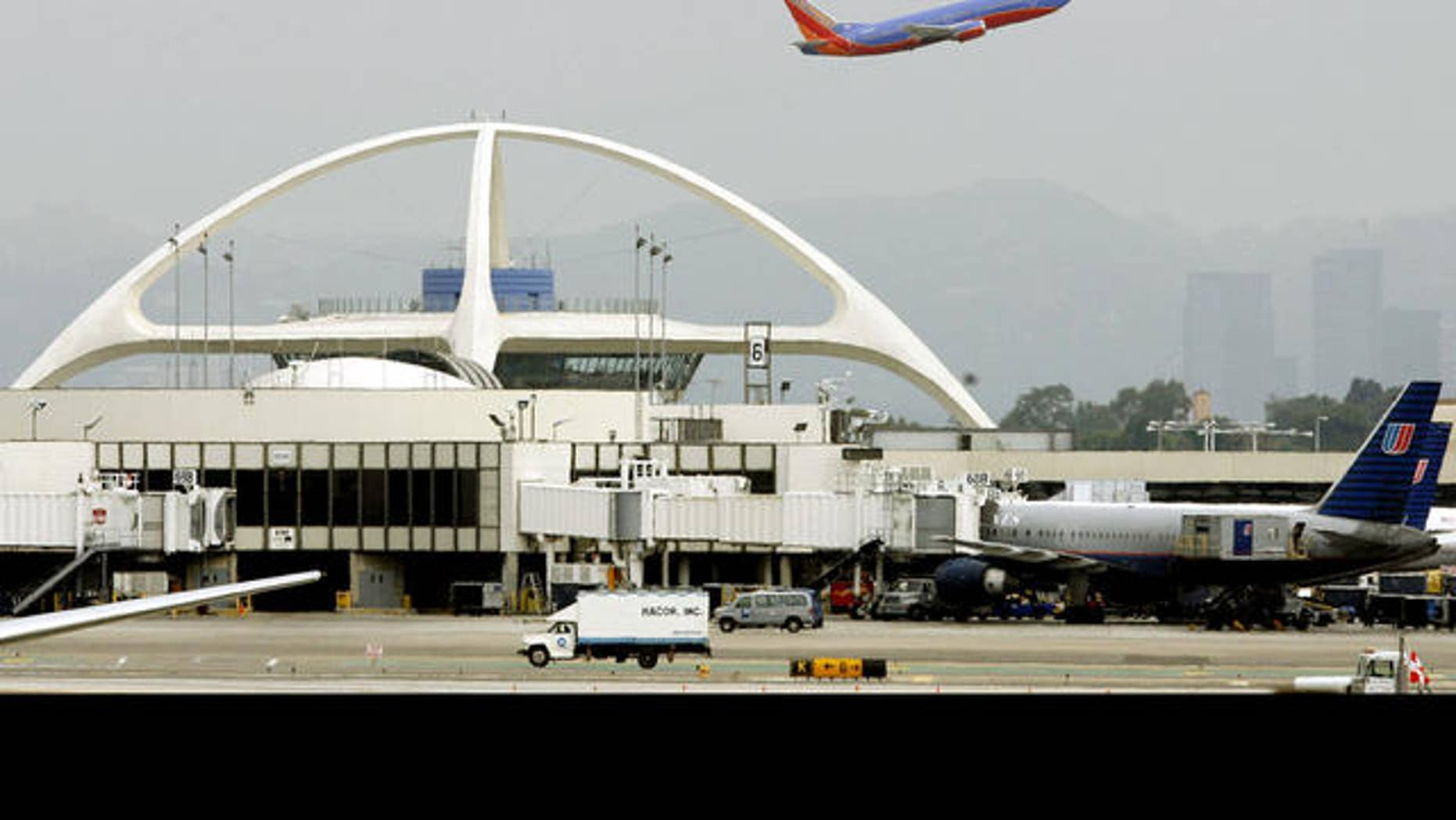 A Southwest aircraft departs Los Angeles International Airport (LAX) Monday, Aug. 7, 2006.