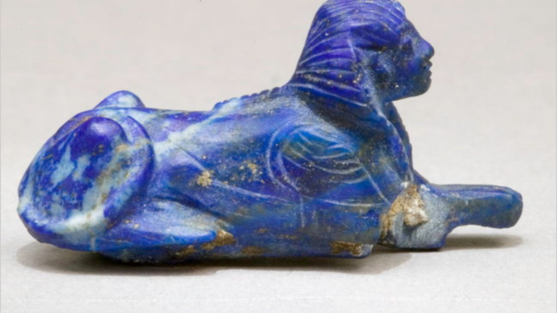 This lapis lazuli sphinx bracelet inlay, which has been in the collection of the Metropolitan Museum of Art for decades, will be returning to Egypt next year.