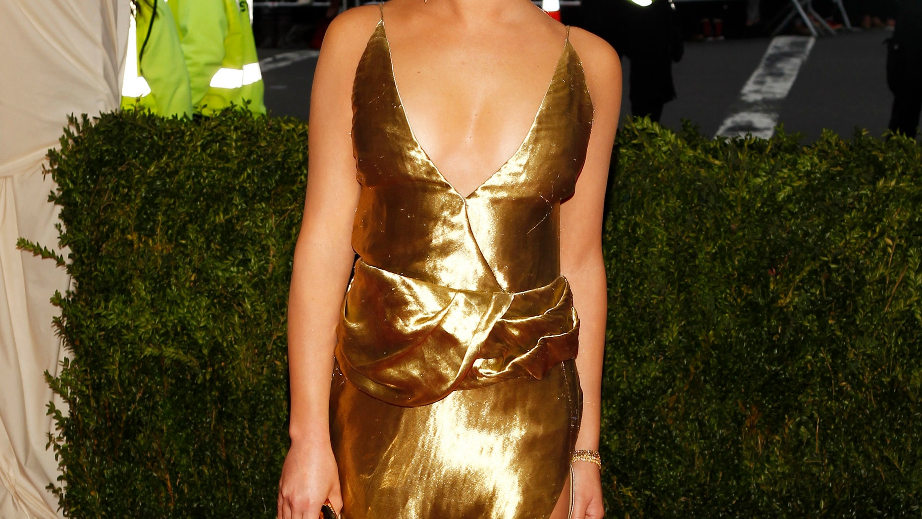 May 5, 2014. Actress Lea Michelle arrives at the Metropolitan Museum of Art Costume Institute Gala Benefit in New York.