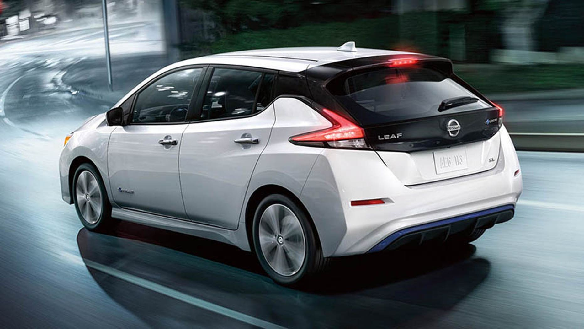 The Nissan Leaf emits a sound at low speeds to alert pedestrians and cyclists to its presence.