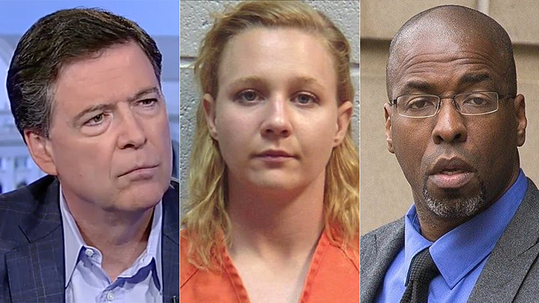 Former FBI director James Comey, former federal contractor Reality Winner and former CIA officer Jeffrey Sterling.