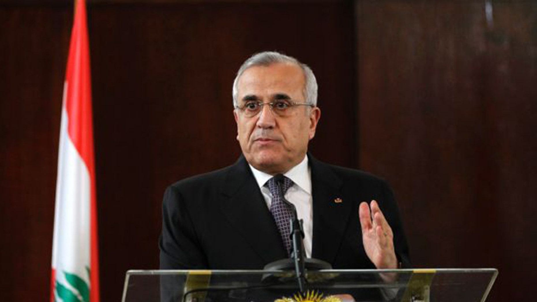 When Lebanese President Michel Sleiman stepped down last month, it created a vacuum in Lebanon's government. (AP)