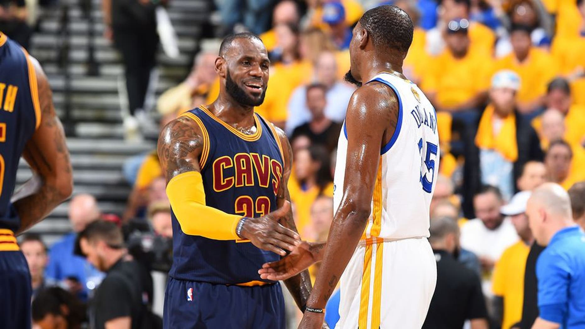 685e664b9c57 Kevin Durant and LeBron James are currently giving each other their best  shot as they battle for the Larry OBrien Trophy