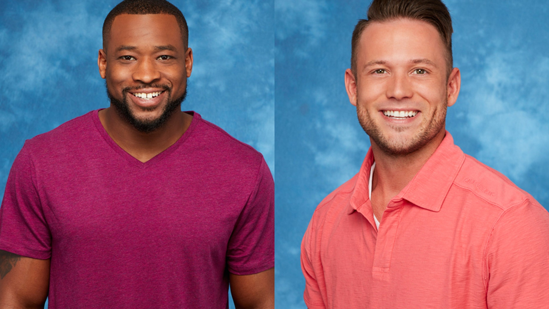"""""""The Bachelorette"""" suitors Kenny (left) and Lee."""