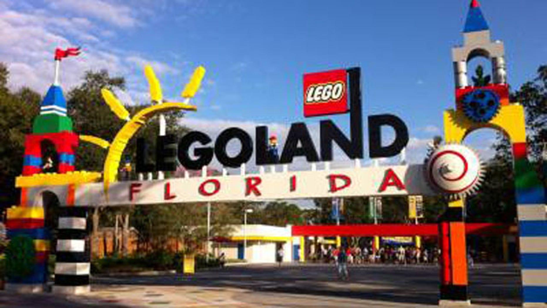 The front gates at Legoland Florida.