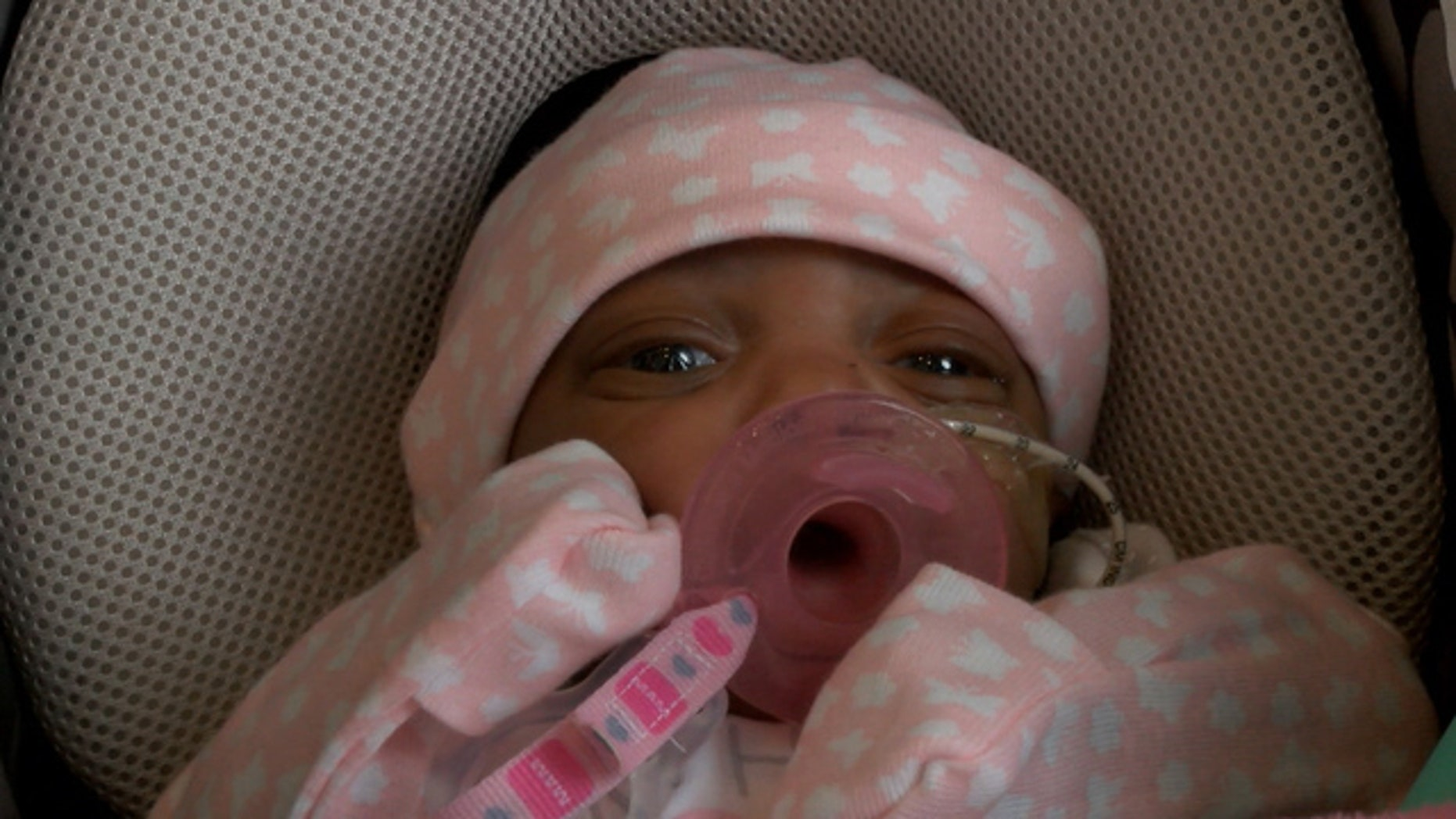 Layah Faith Pegues was born weight just 10 ounces.