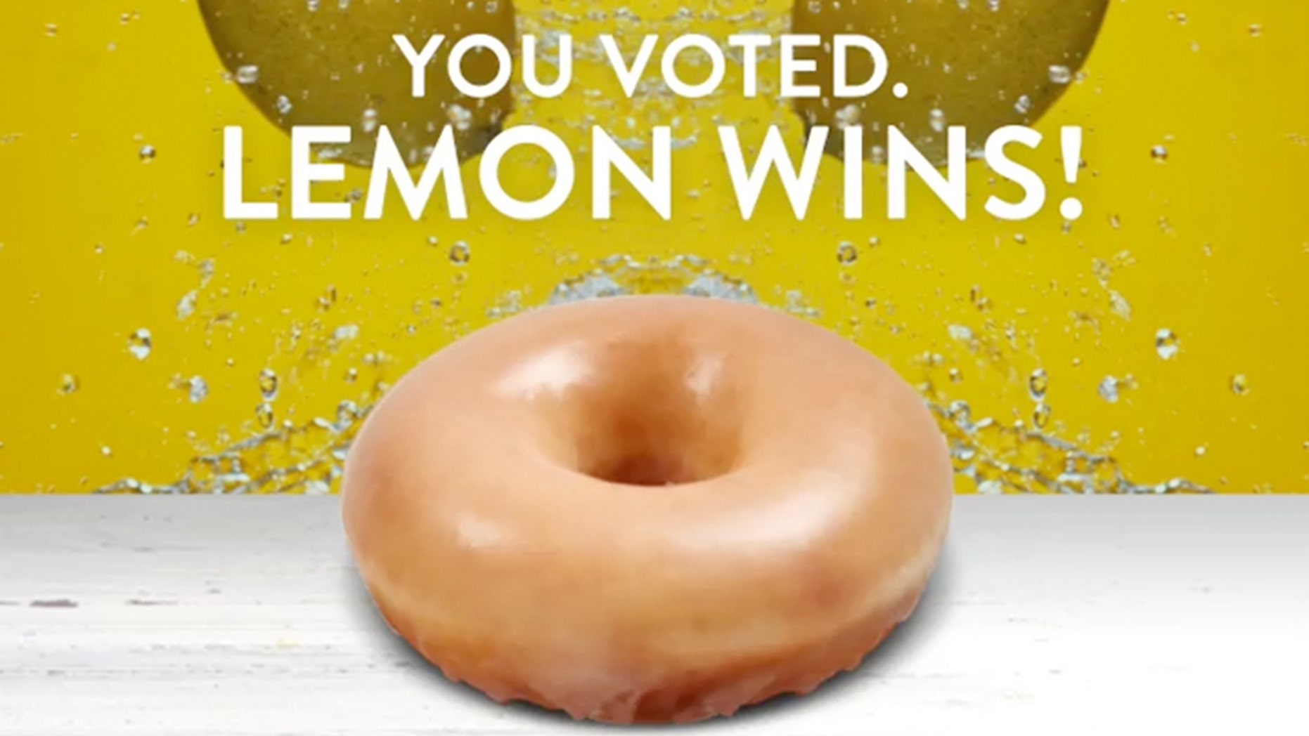 America has spoken, and they have picked lemon to be the glaze flavor for the limited-edition springtime treat.