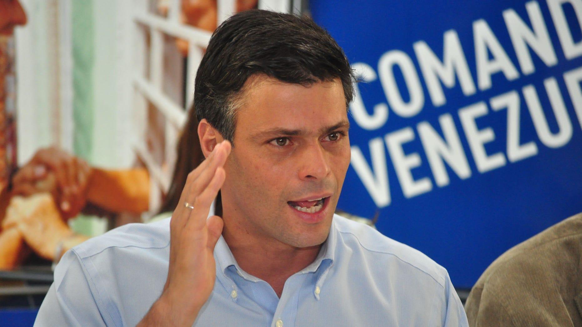 Former Venezuelan presidential contender Leopoldo Lopez