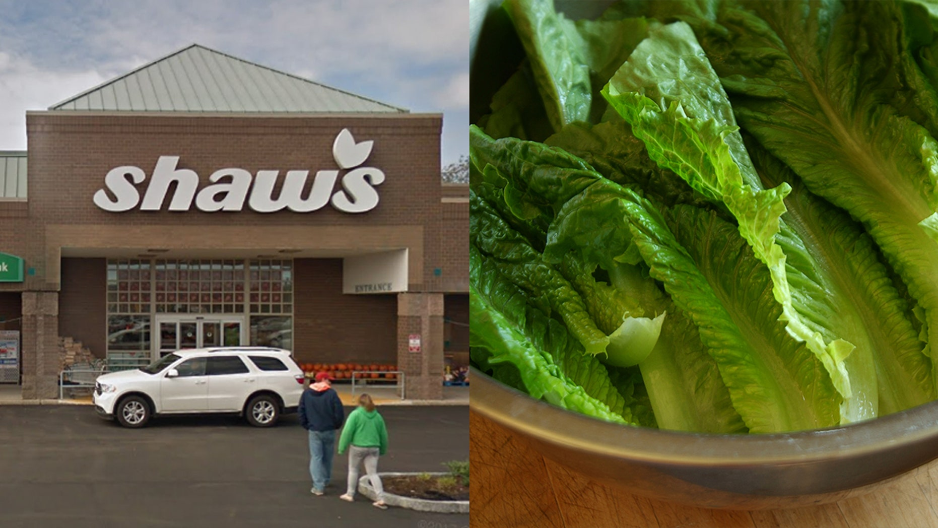 A Maine woman claims she found a dead lizard in her salad made with romaine lettuce she bought at a Shaw's supermarket.