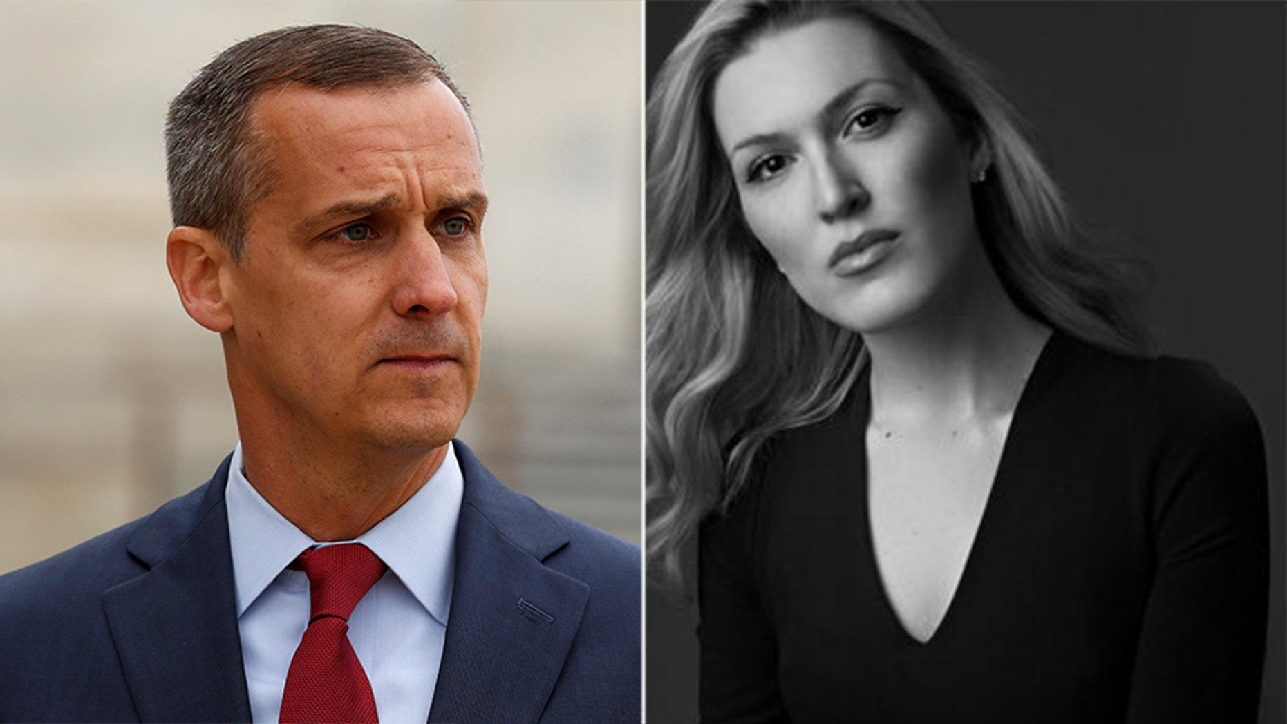 Olivia Nuzzi, right, remains without remorse after the New York Magazine journalist admitted to entering the home office of Corey Lewandowski, left, without permission for a story.