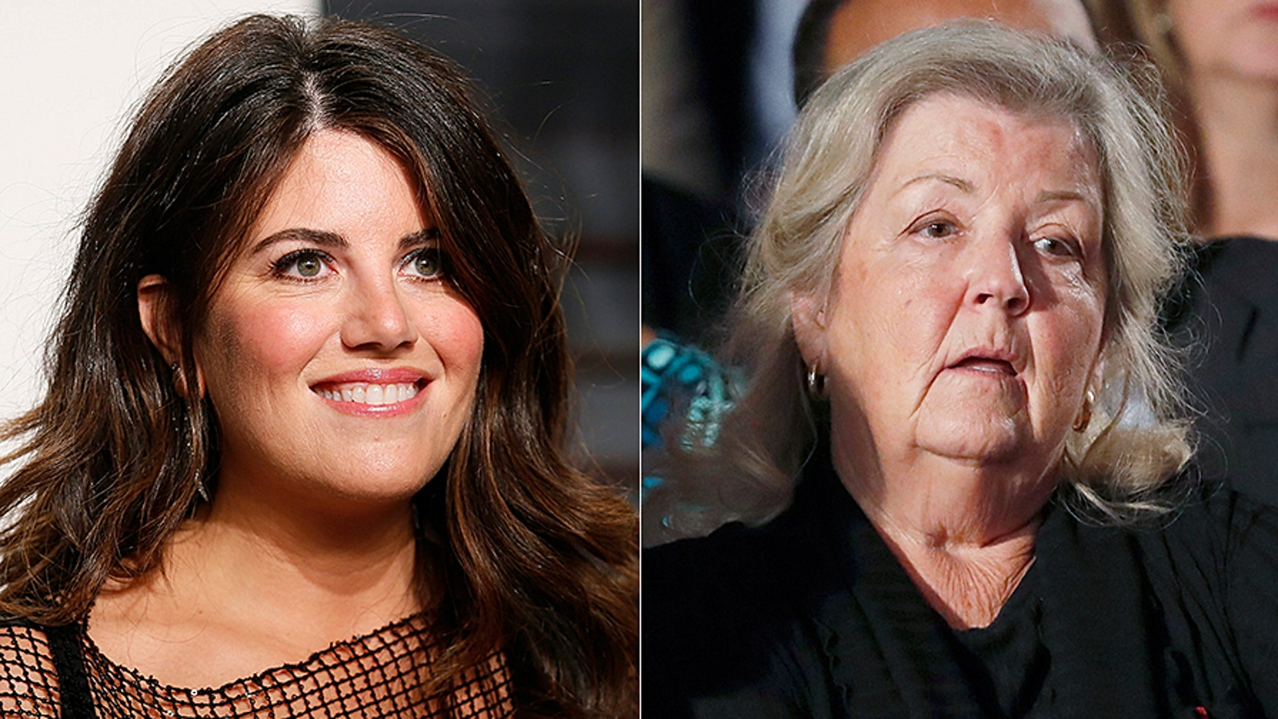 Juanita Broaddrick (right) lashed out at Monica Lewinsky (left) on Thursday after she tweeted the #MeToo hashtag, marking herself a victim of sexual harassment or assault.