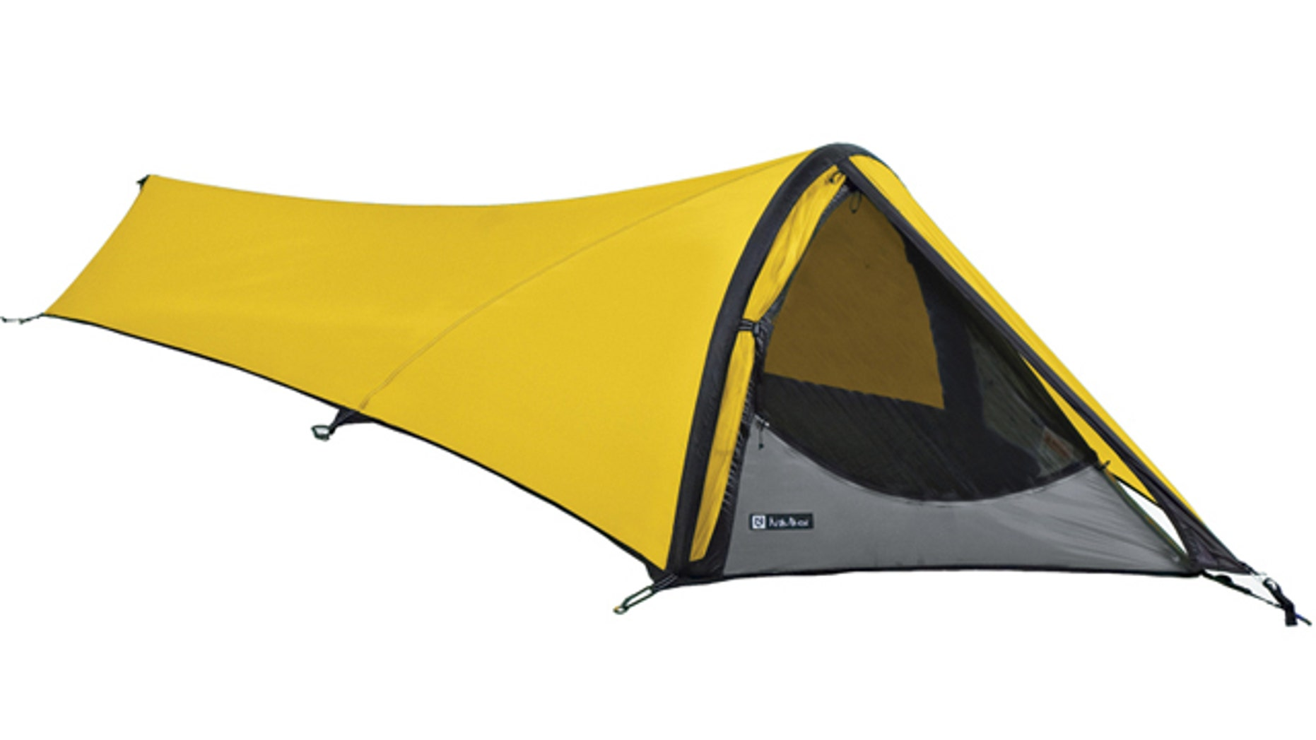 This product image courtesy of NEMO Equipment, Inc. shows the Gogo Elite tent. NEMO uses computer-aided design software to find the minimum amount of poles and material they can use to still have a comfortable tent. (AP Photo/NEMO Equipment, Inc.)