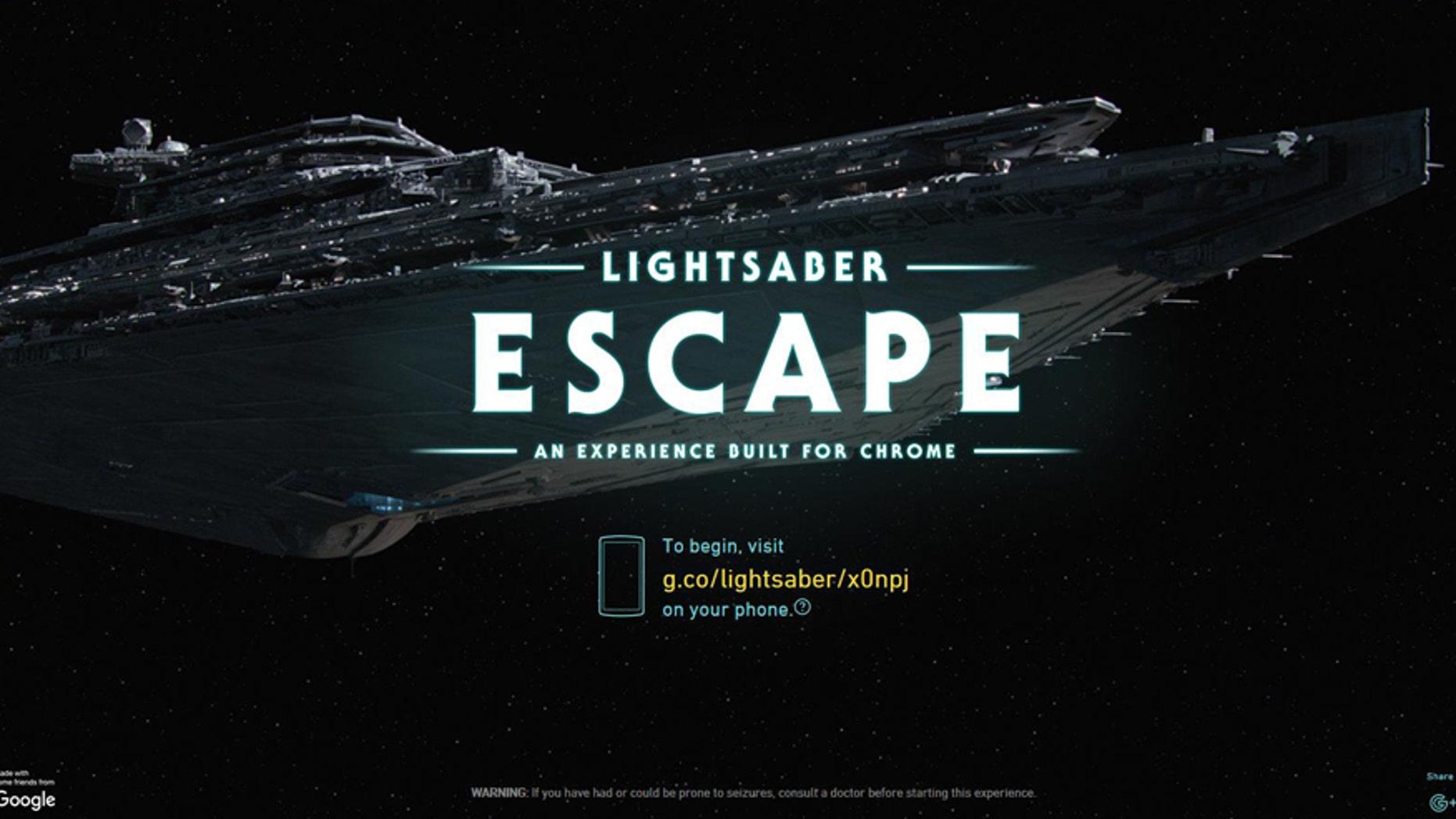 (Screenshot from www.lightsaber.withgoogle.com)