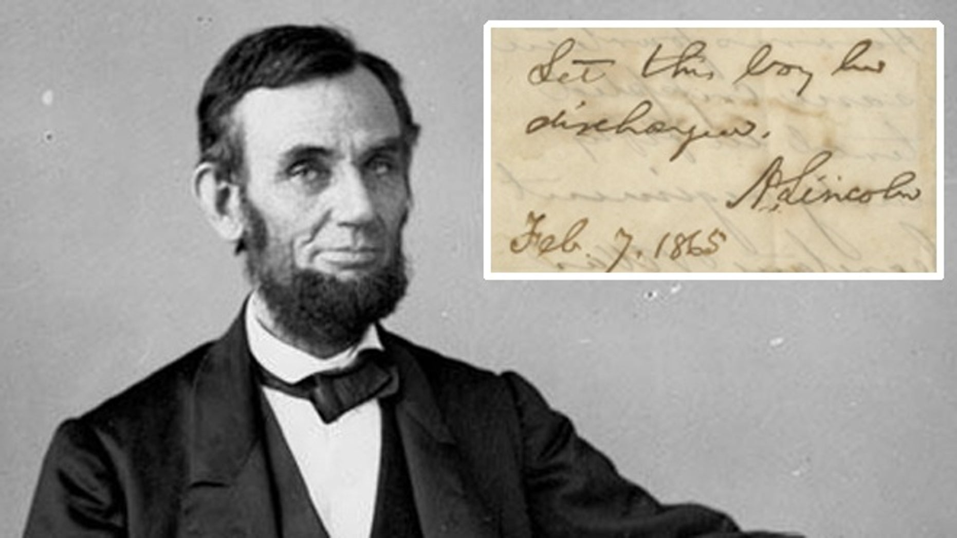The recently found telegram from 1865 was signed by Lincoln who urged Union Army officials to allow Perry Harris to be discharged from service after an impassioned plea from his father.