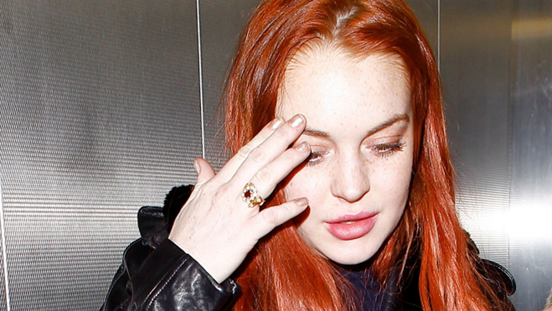 Lindsay Lohan in Los Angeles.