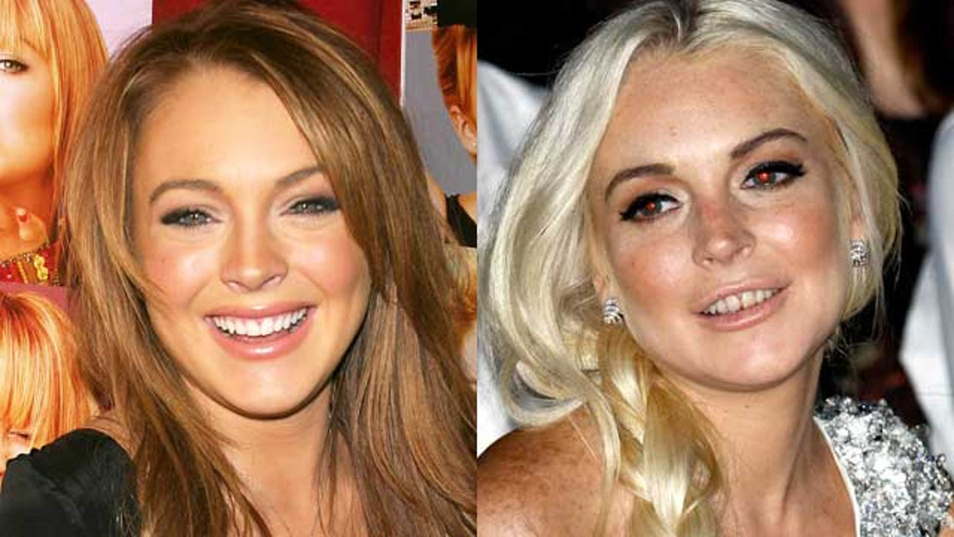 Lindsay Lohan in 2004 and 2011. (Reuters)