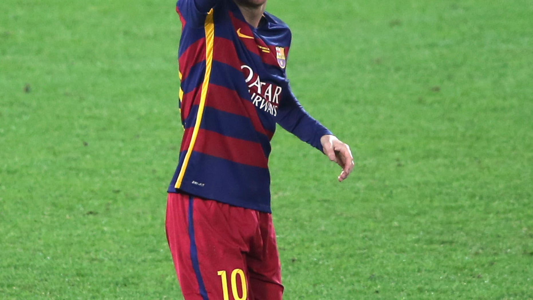 Pictured: Messi, who is probably making this same face right now. (Photo Credit: AP)