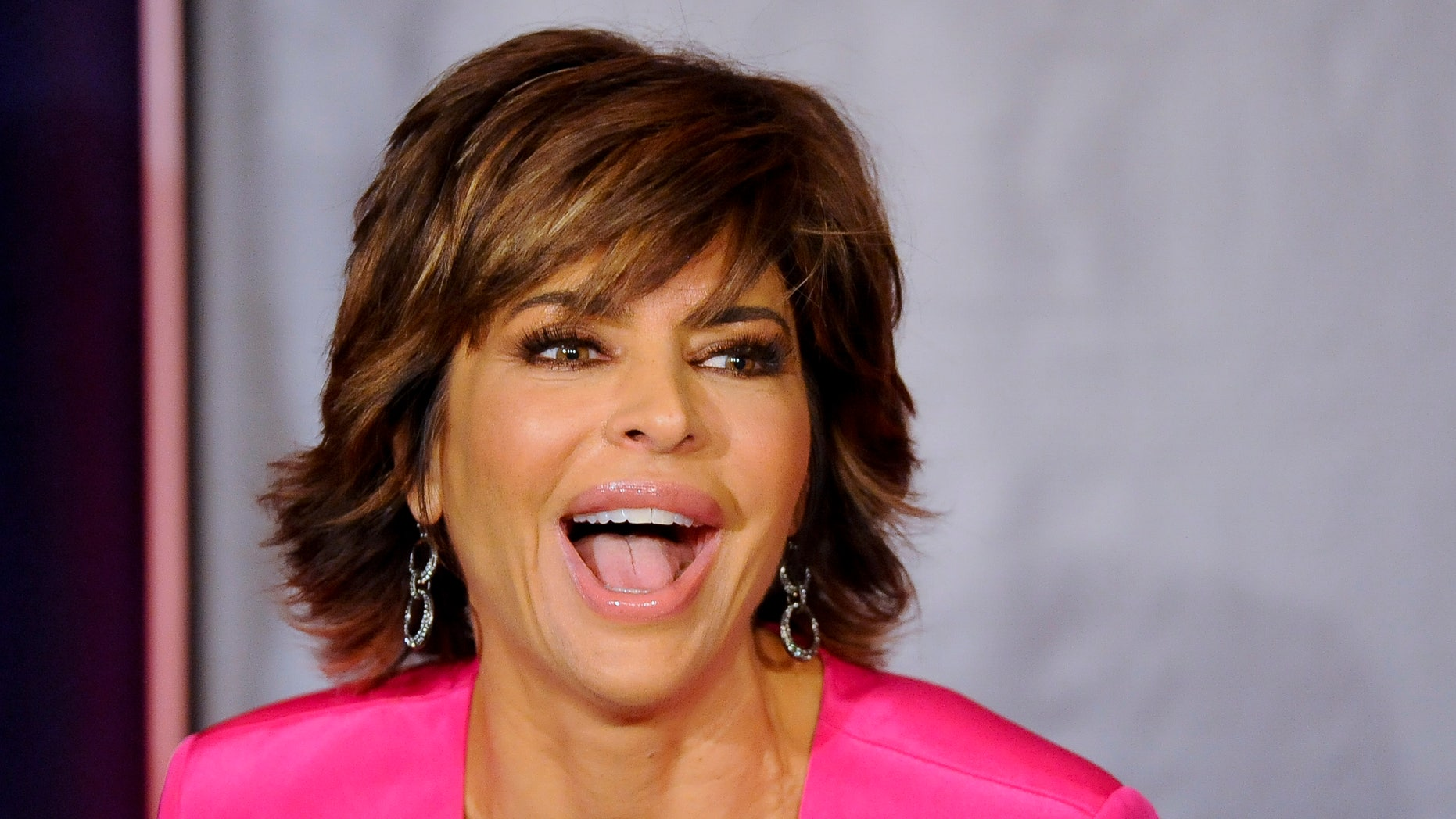 January 6, 2013. Actress Lisa Rinna takes part in a panel during the 2013 Winter Press Tour for the Television Critics Association in Pasadena, California.
