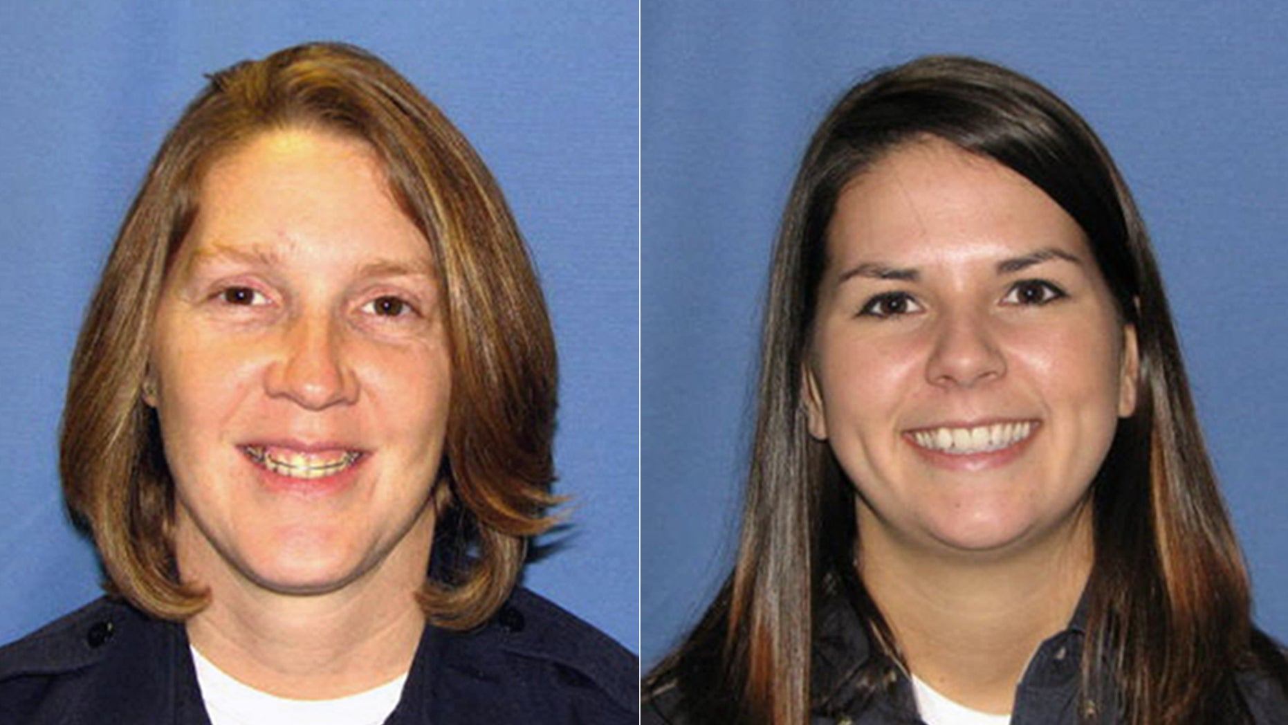Officer Donna Lesher, left, and Detective Tabitha McCrillis.