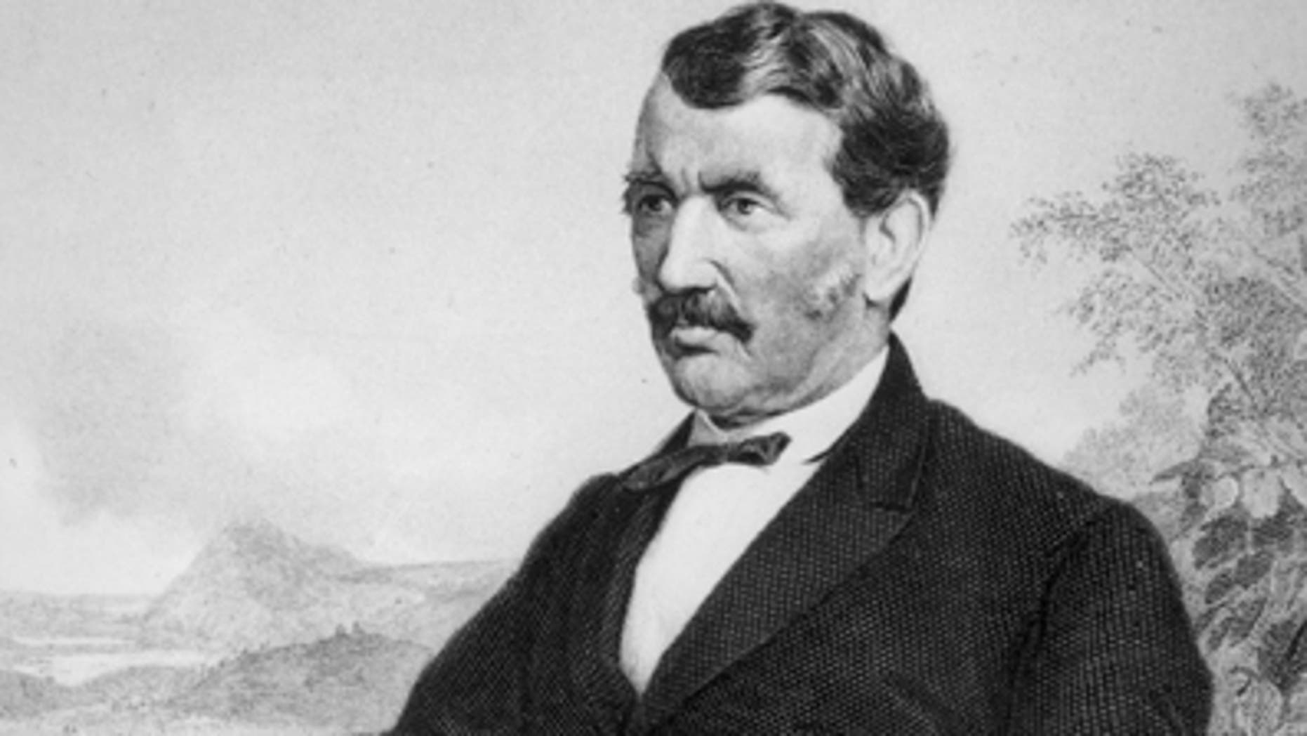 This is an undated file photo of a painting of David Livingstone, Scottish missionary and explorer in Africa and opponent of the slave trade.