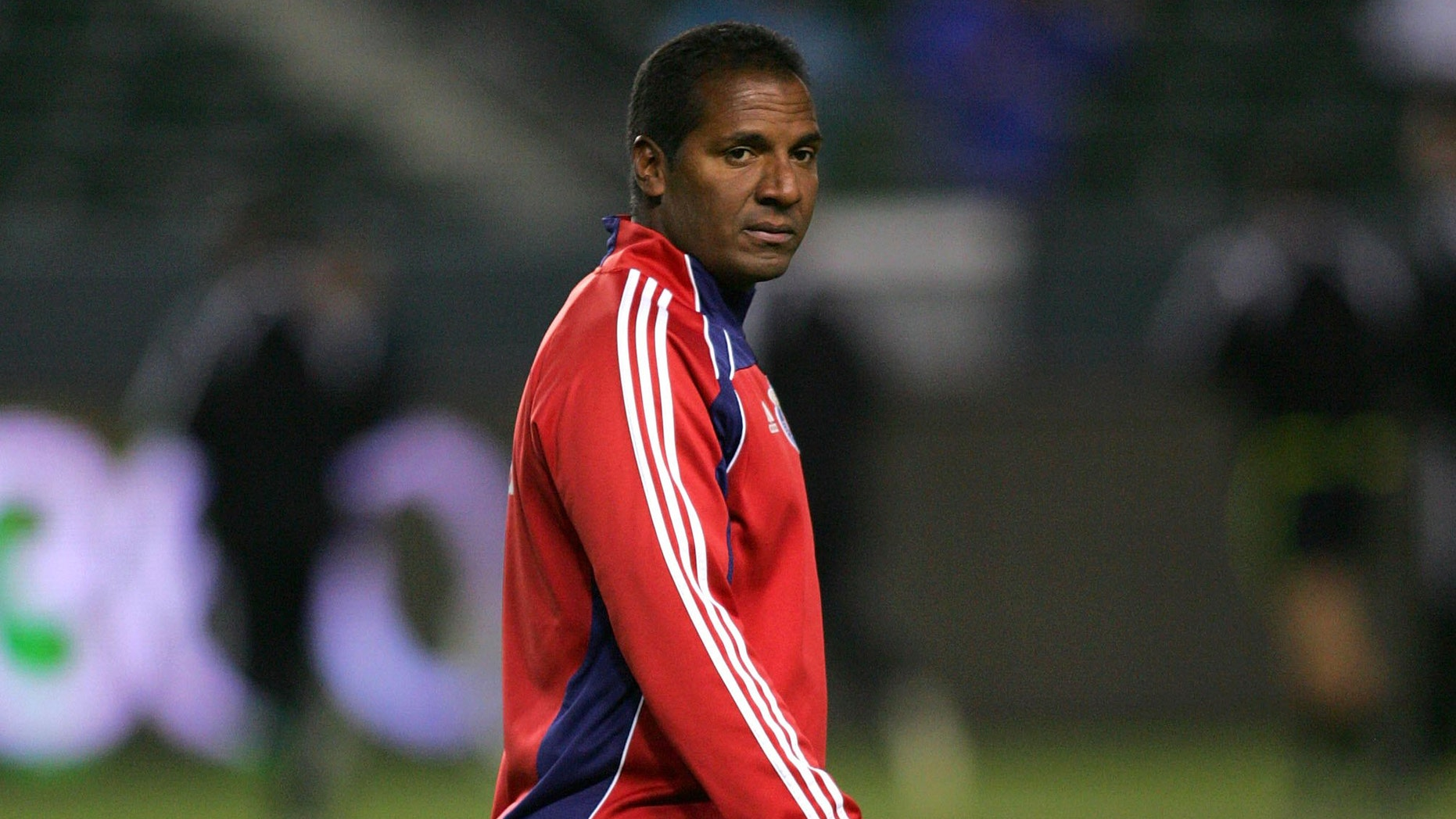 Assistant Coach Carlos Llamosa of Chivas USA looks on during warm-up prior to their MLS match against the Los Angeles Galaxy on April 1, 2010 in Carson, California.