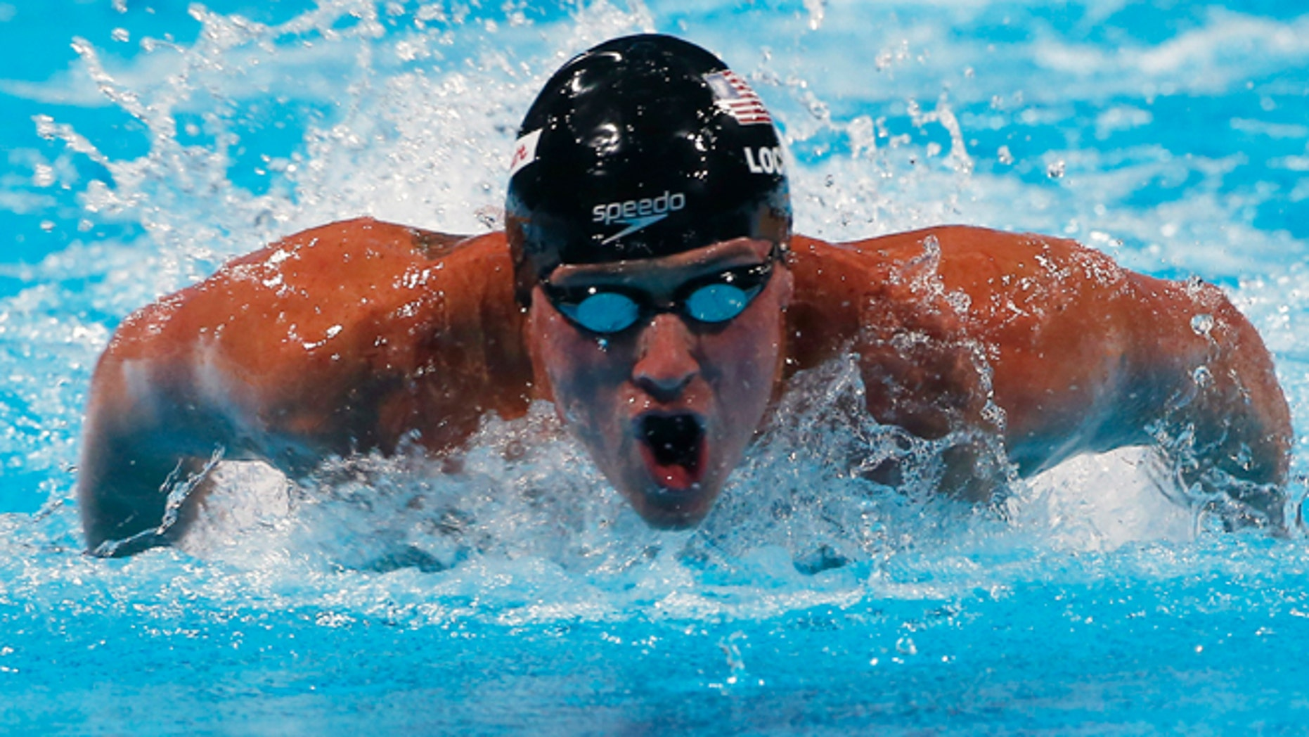 Aug 3, 2013: Ryan Lochte of the U.S. swims in the men's 100m butterfly final during the World Swimming Championships at the Sant Jordi arena in Barcelona.