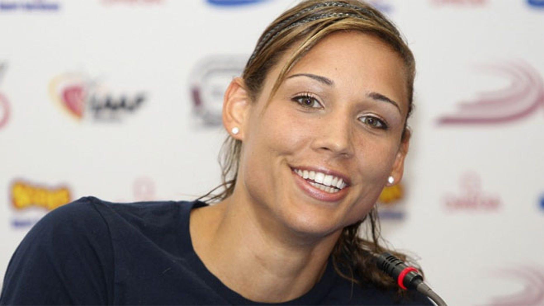 American Olympian Lolo Jones.