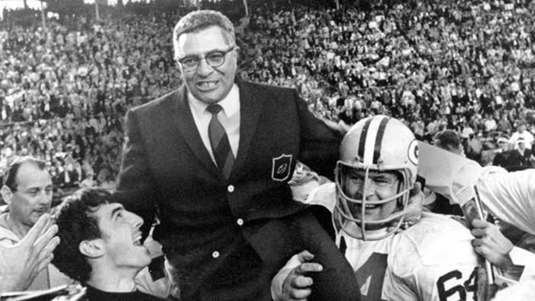 Legendary Packers Coach Vince Lombardi would win the Super Bowl again in 1968, but died just two years later. (AP)