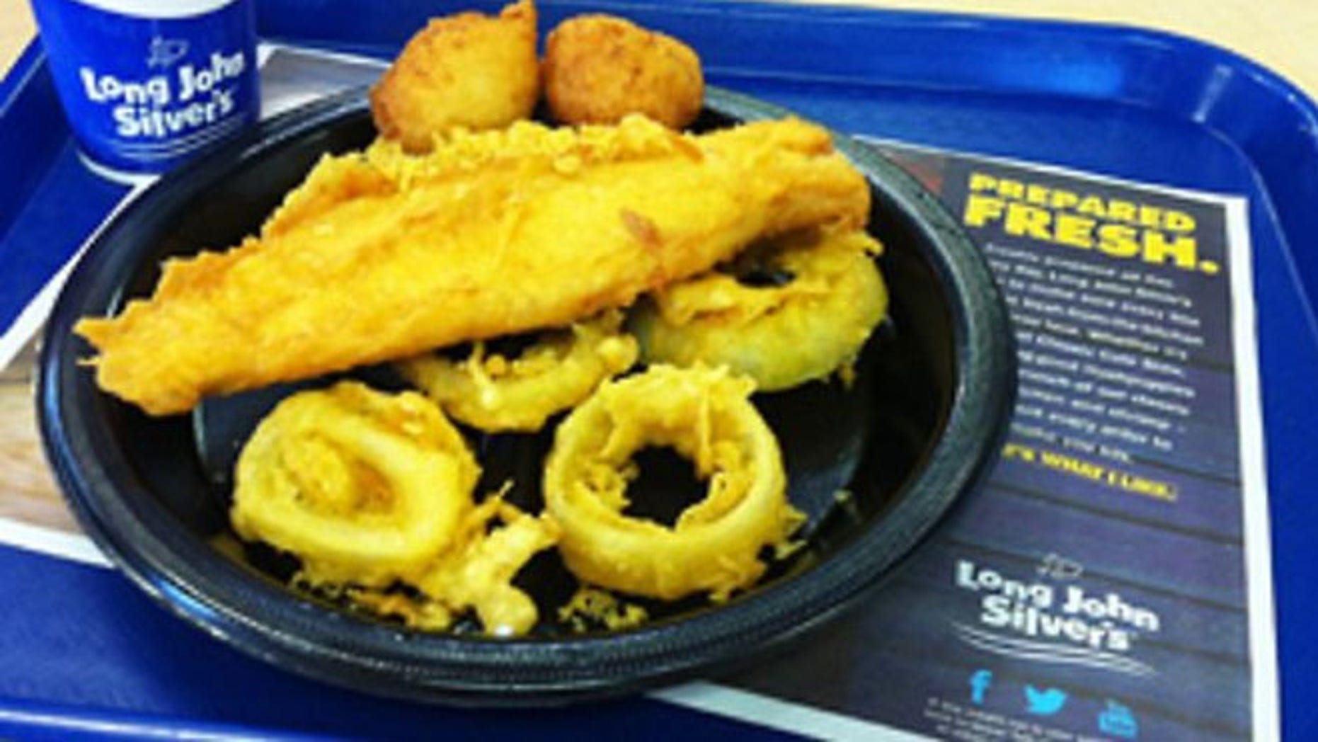 Long John Silver's Big Catch contains 33 grams of trans fat and 3700 milligrams of sodium, said the Center for Science in the Public Interest.