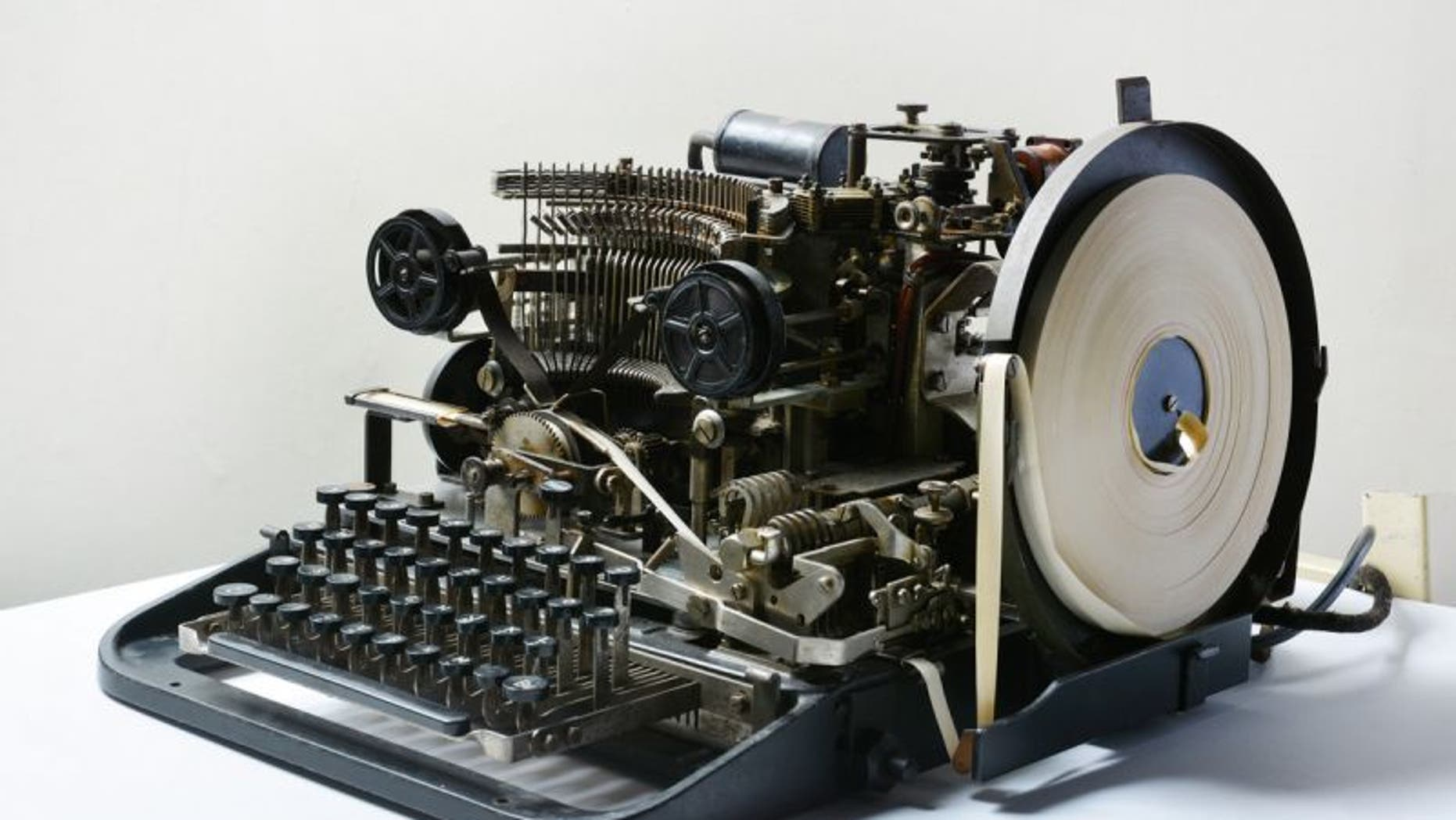 Lorenz teleprinter (The National Museum of Computing).