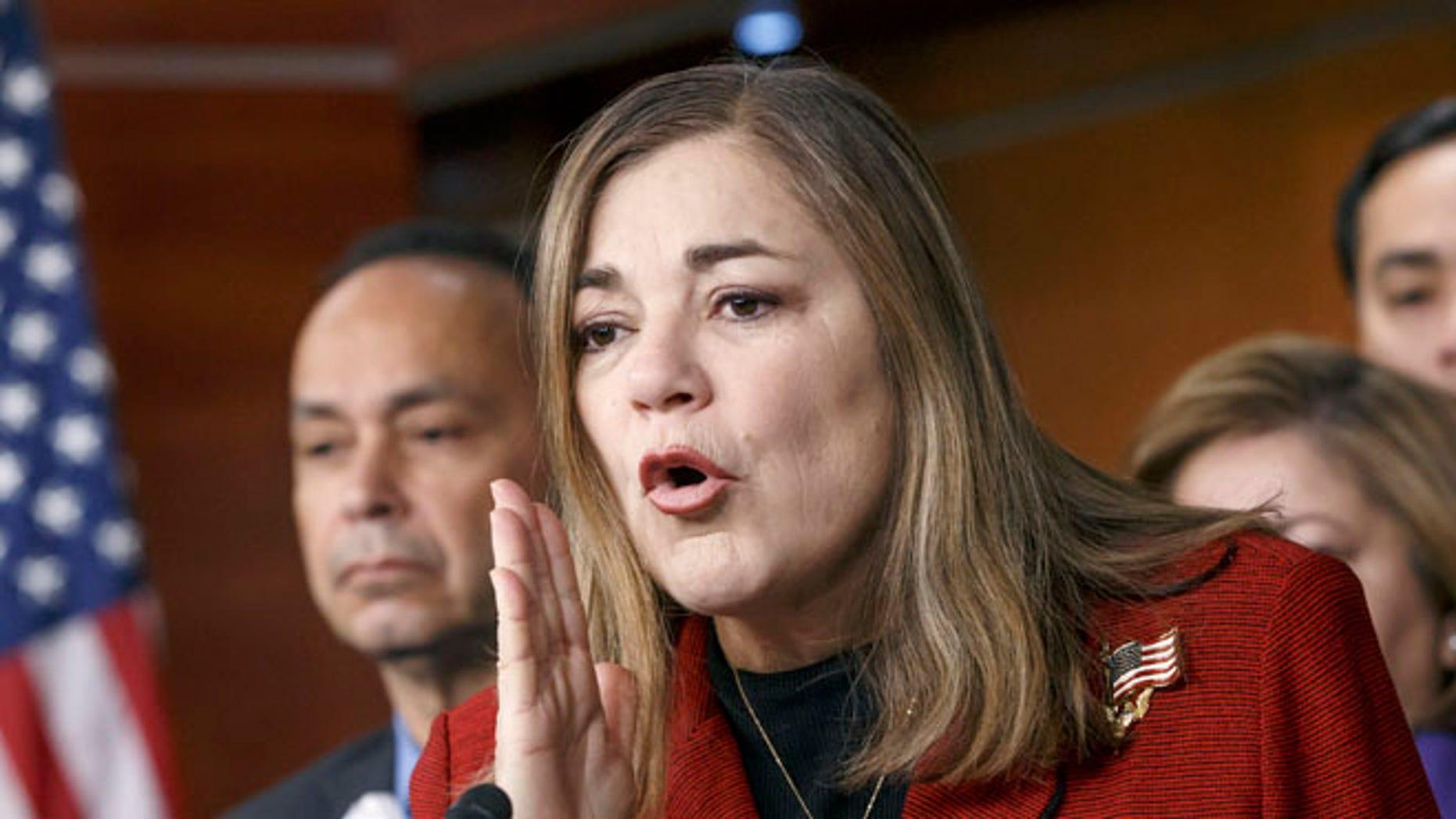 FILE: Feb. 13, 2015: Rep. Loretta Sanchez, D-Calif., at a Congressional Hispanic Caucus news conference on Capitol Hill in Washington, D.C. (AP)
