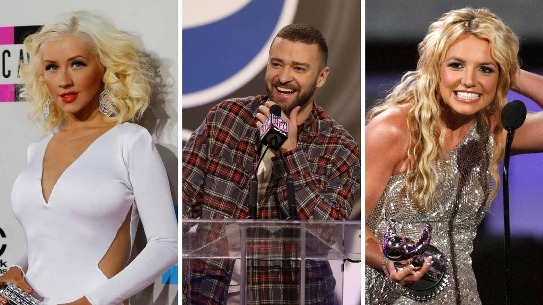 """Christina Aguilera revealed she and Britney Spears both had crushes on Justin Timberlake during their """"Mickey Mouse Club"""" days."""