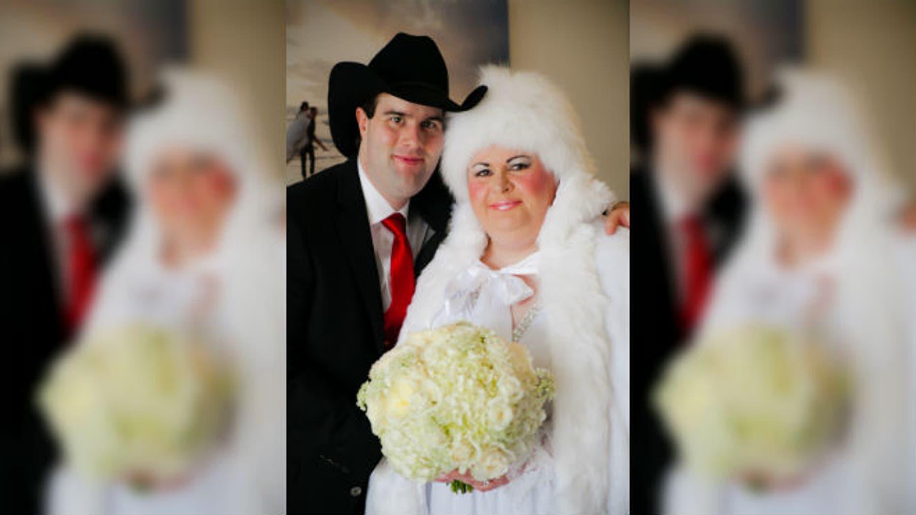 Abraham Talmage Nielsen and Anita Lesko on their wedding day.  (image: Kristina Bant Jenkins)