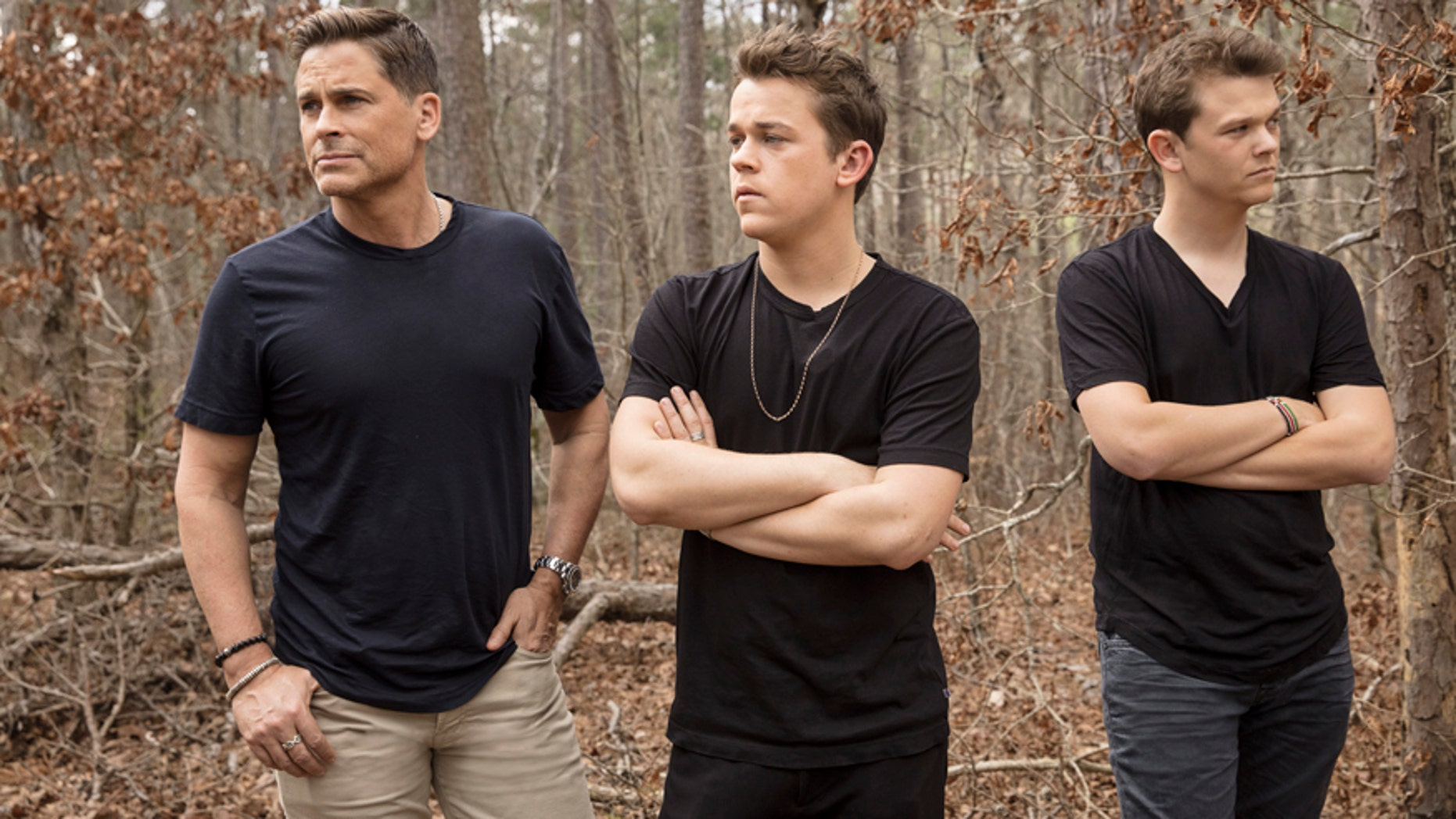 """Rob Lowe and his sons John Owen and Matthew star in """"The Lowe Files"""" premiering August 2 on A&E."""