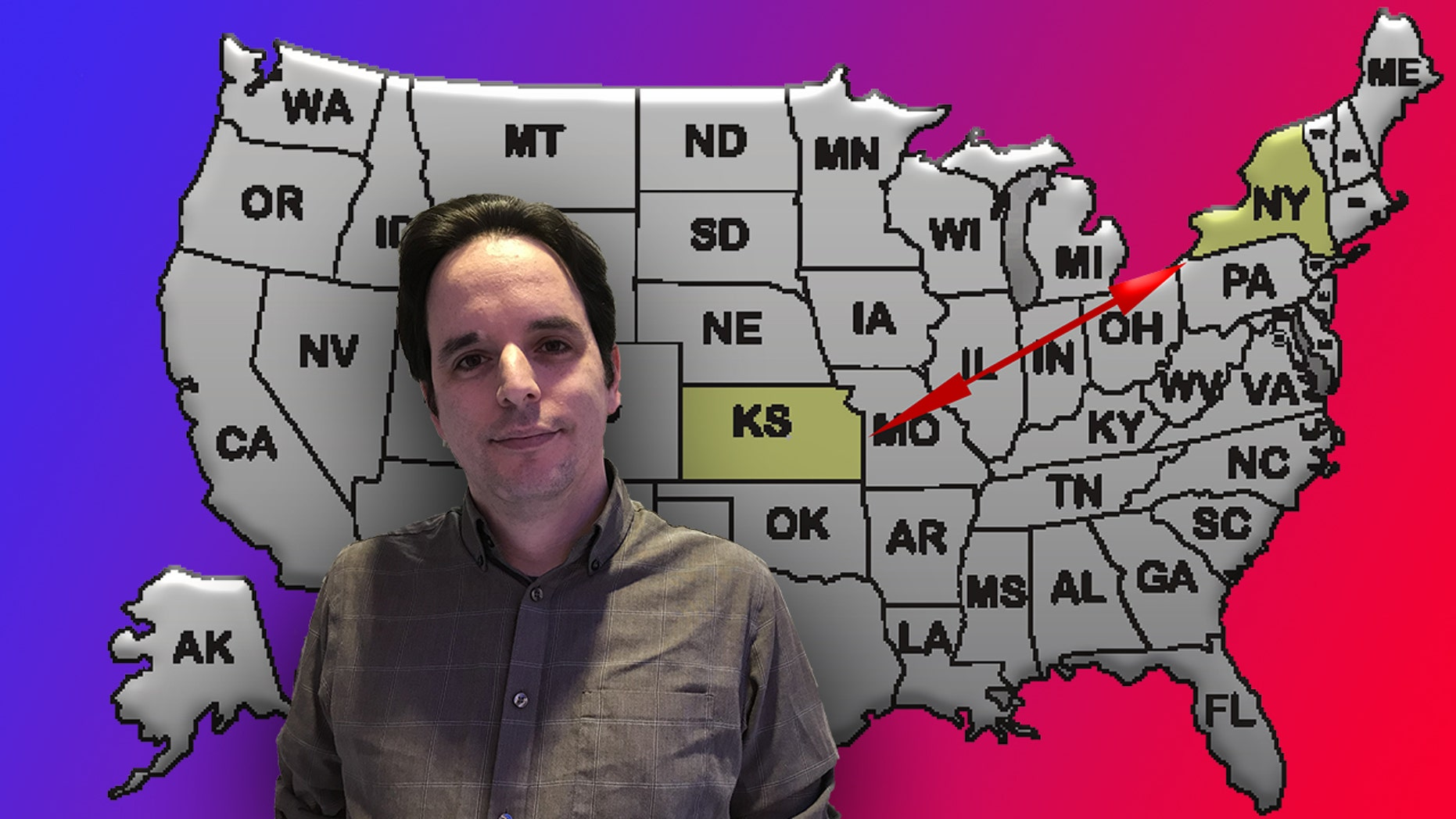 Lifelong New Yorker Andy Maskin wants to become the governor of Kansas thanks to a loophole about residency requirements.