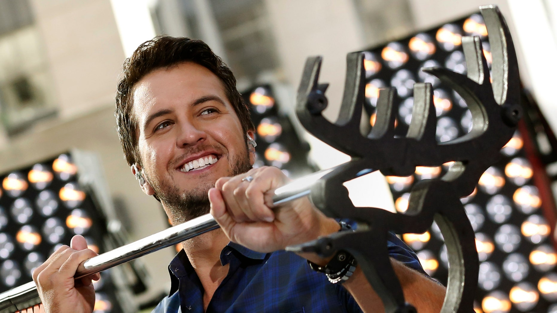 """August 16, 2013.Singer Luke Bryan performs on the """"Today"""" show in New York."""