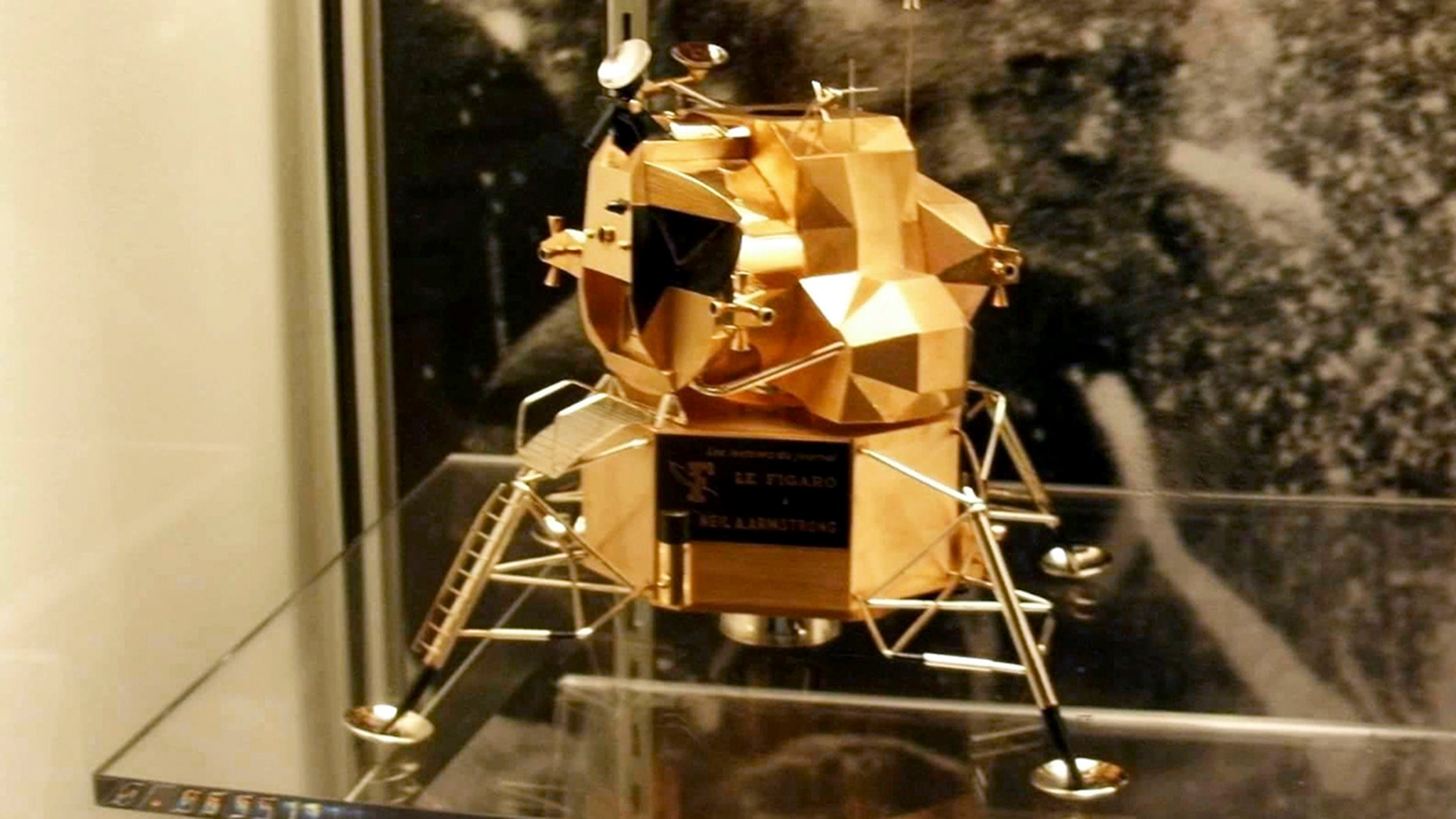 The lunar module replica at Armstrong Air and Space Museum was stolen Friday night