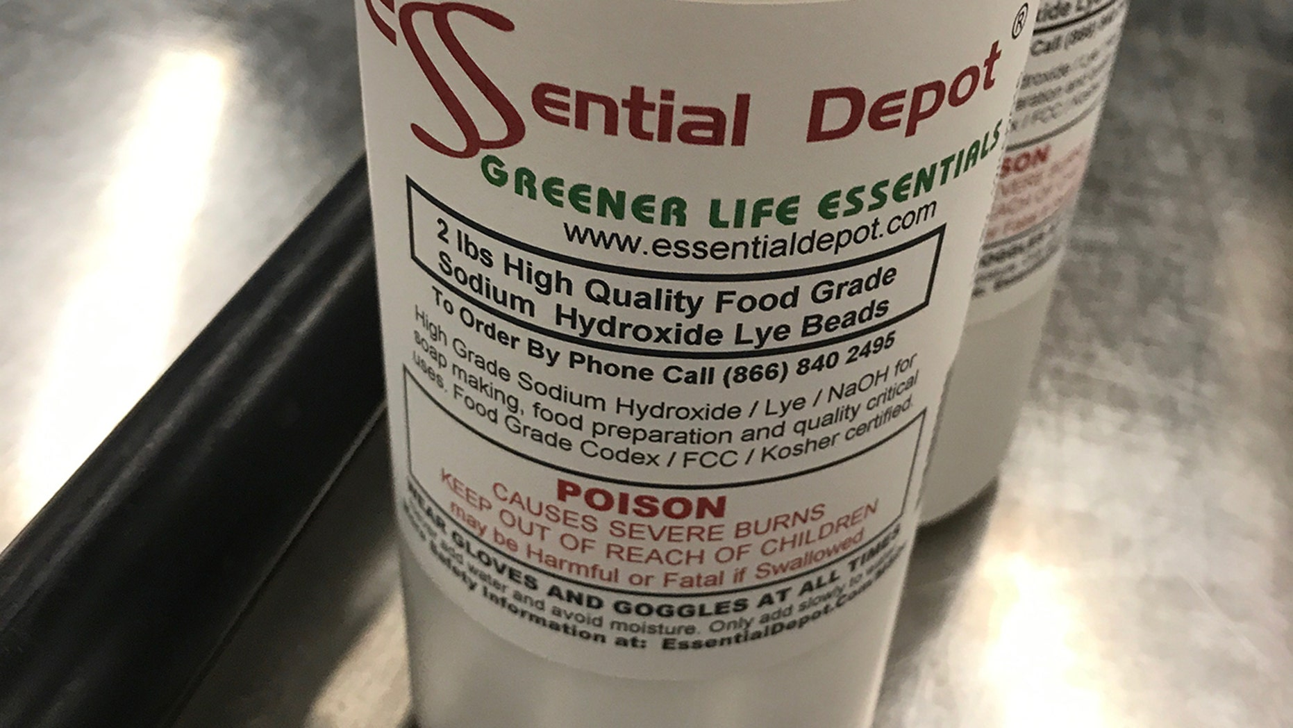"""Some of the bottles even contained warnings reading """"poison"""" and """"causes severe burns."""""""