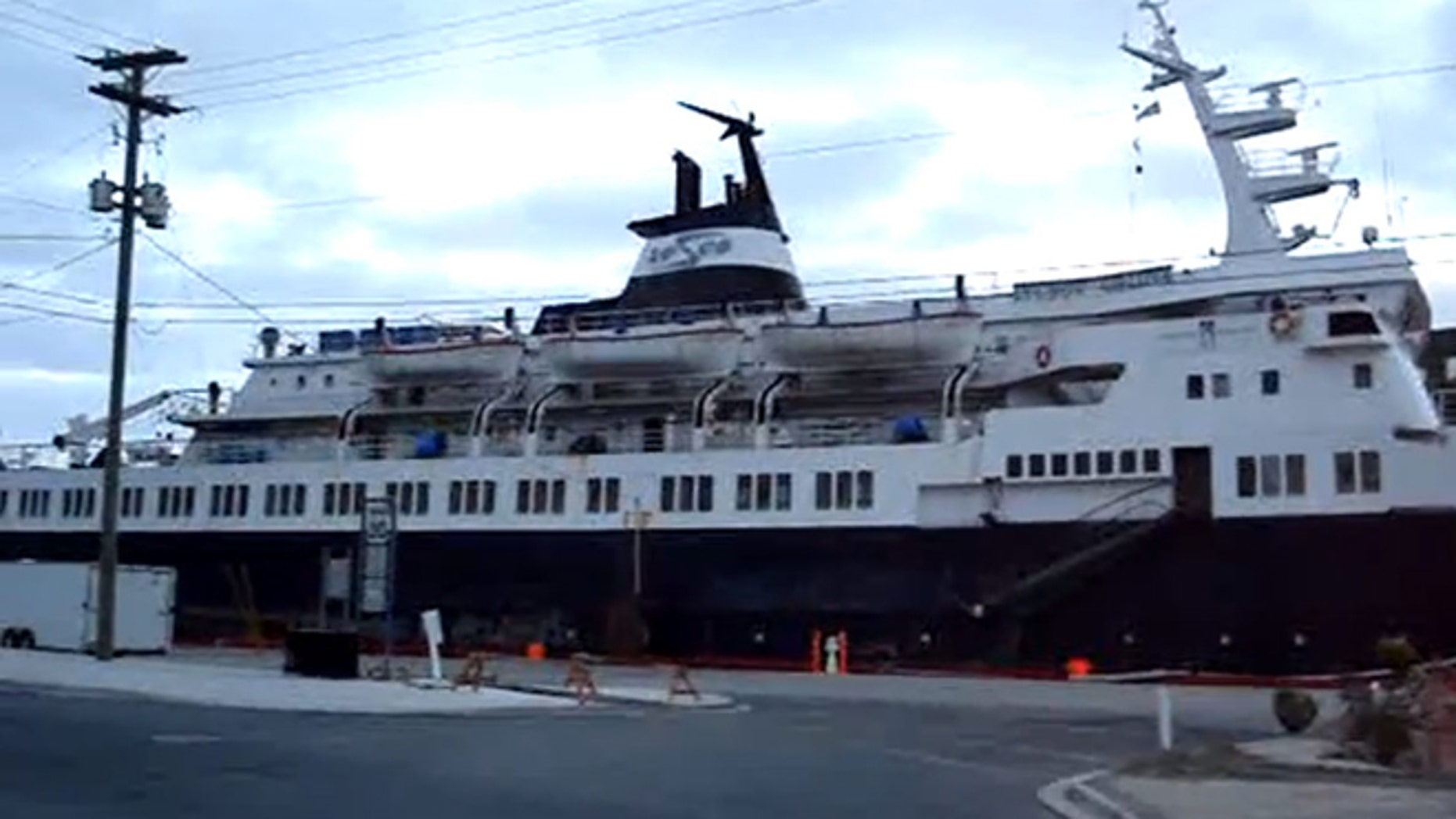 The Lyubov Orlova (shown here) was seized in St. John's, Newfoundland, in 2010 because of a financial dispute between the ship's Russian owners and a charter company.