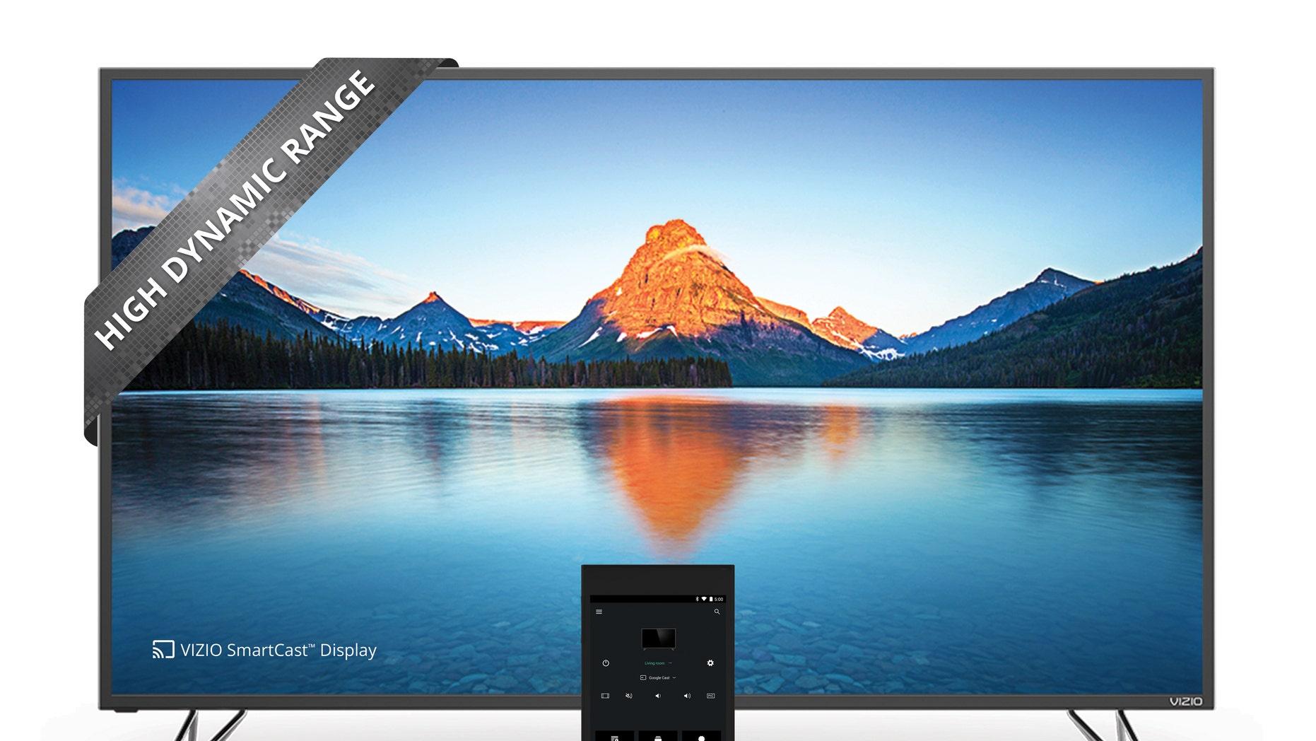 VIZIO SmartCast M-Series Ultra HD HDR Home Theater Display and tablet remote. (VIZIO, Inc.)
