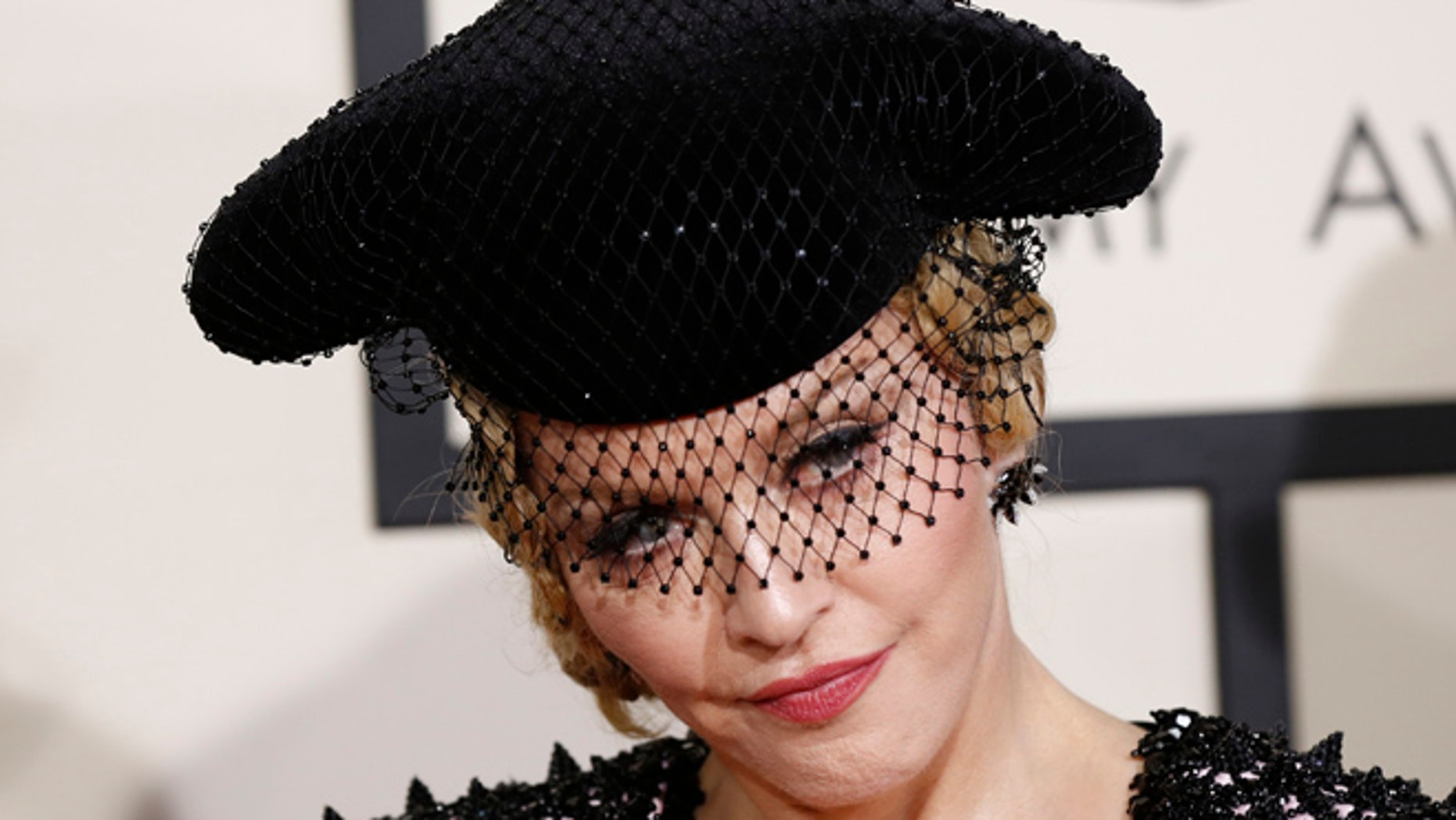 February 8, 2015. Madonna arrives at the 57th annual Grammy Awards in Los Angeles, California.
