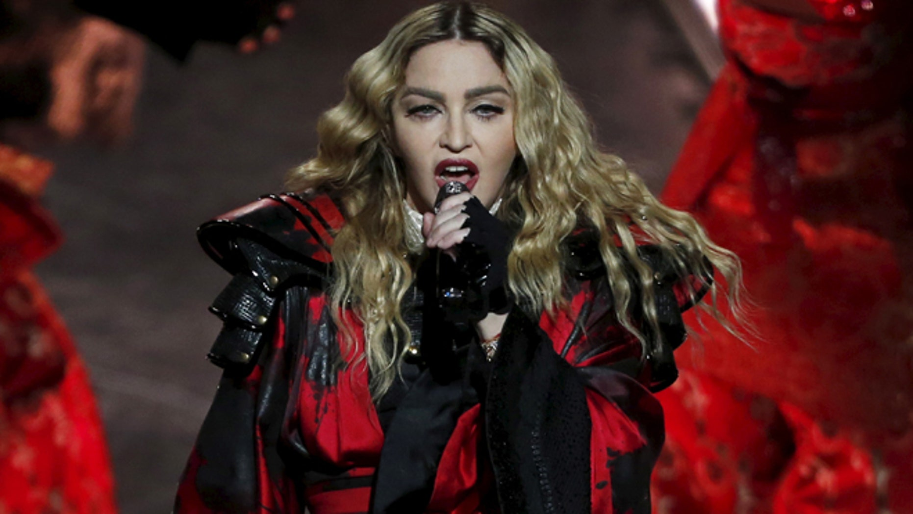 February 20, 2016. Madonna performs during her Rebel Heart Tour concert  in Macau, China.