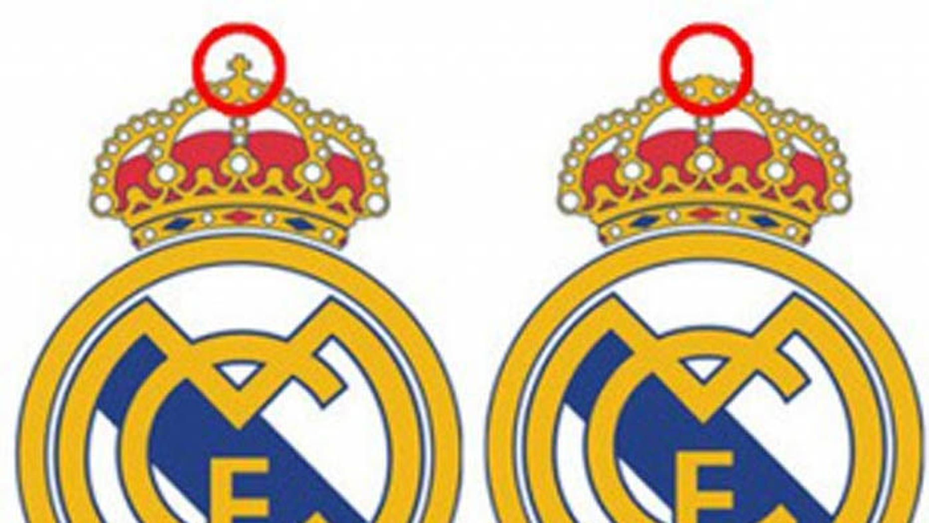 Soccer giant Real Madrid unveiled a new logo for its partnership with a UAE bank - one without the cross.