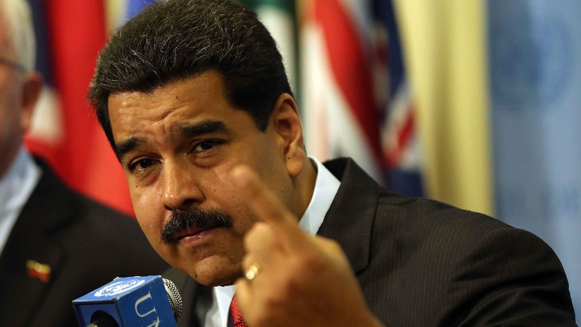 Venezuelan President Nicolas Maduro at the UN headquarters in New York on July 28, 2015.