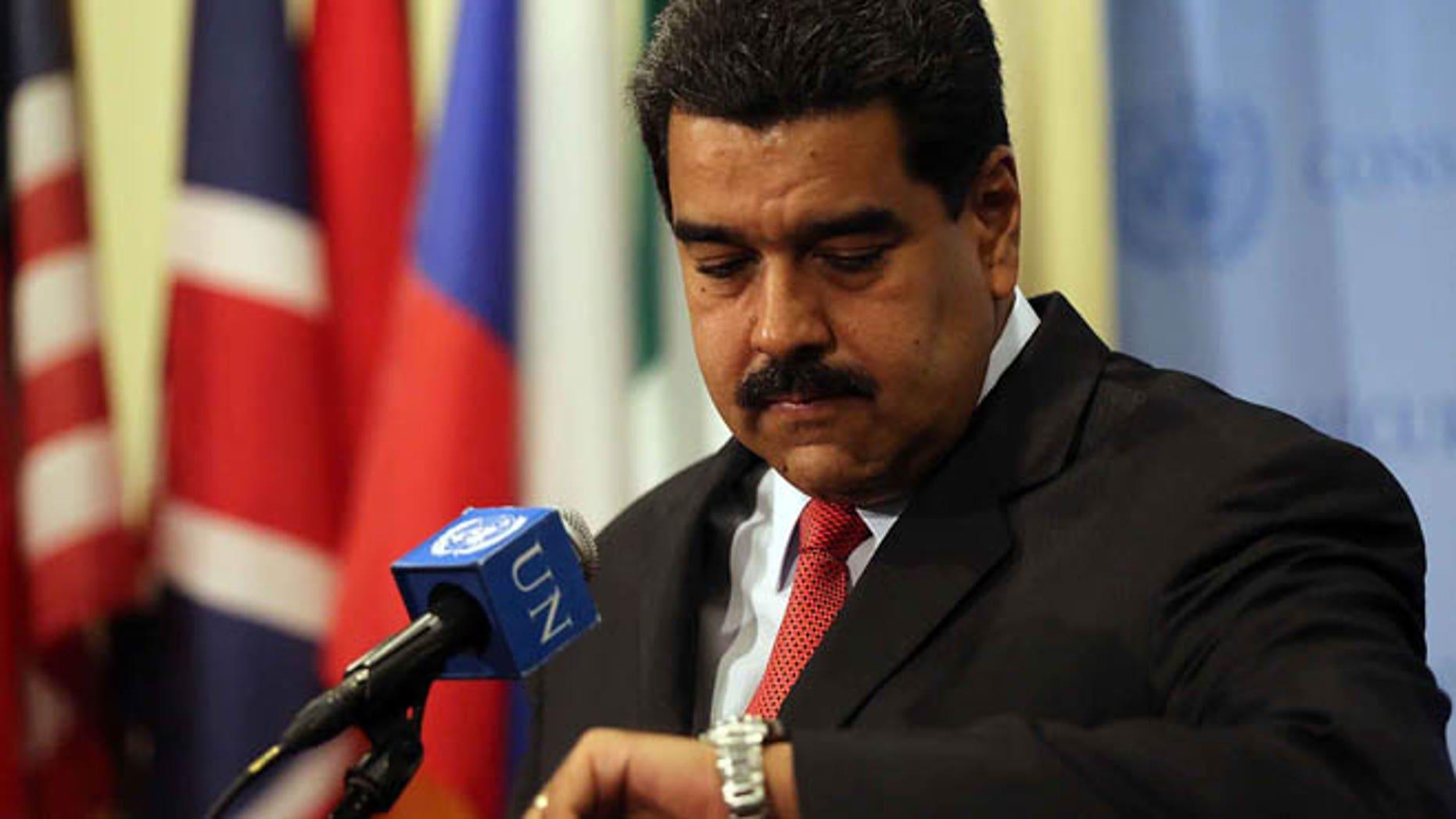 Venezuelan President Nicolas Maduro on July 28, 2015 in New York City.