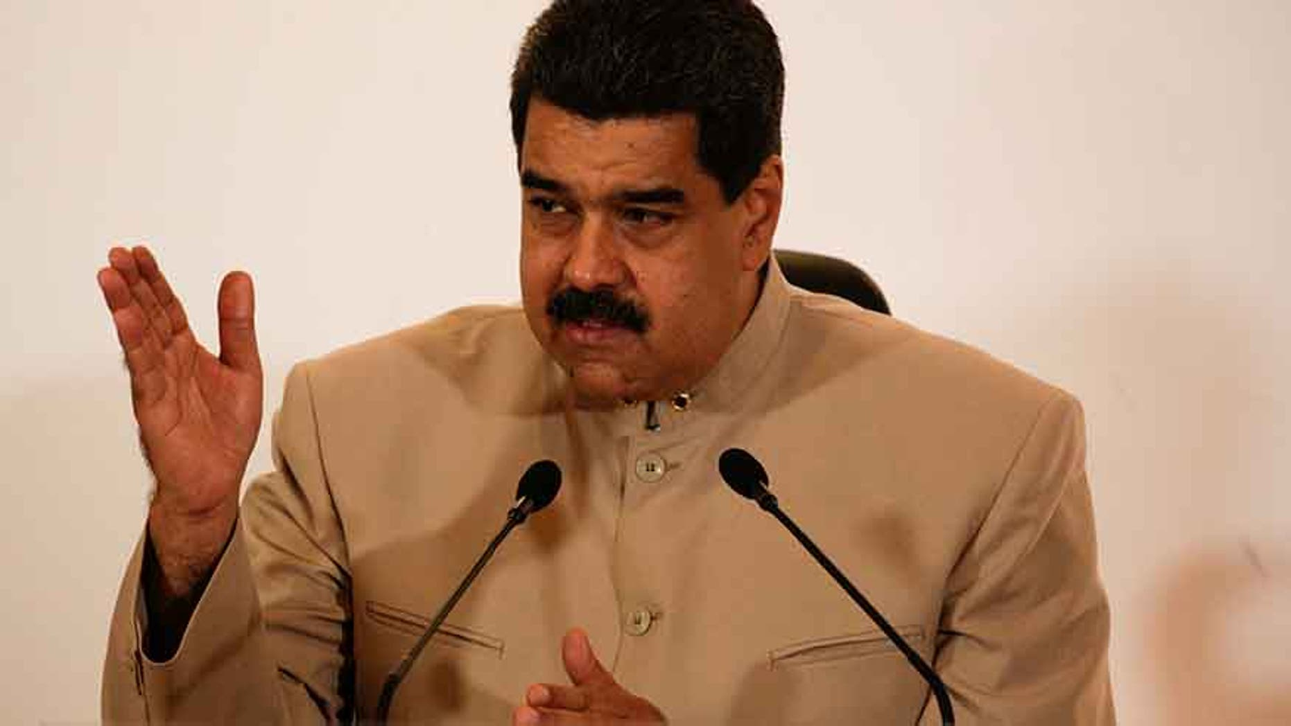 Venezuela's President Nicolas Maduro speaks during a meeting at the National Electoral Council (CNE) where he presented his proposal to set up a National Constituent Assembly, in Caracas, Venezuela May 3, 2017.